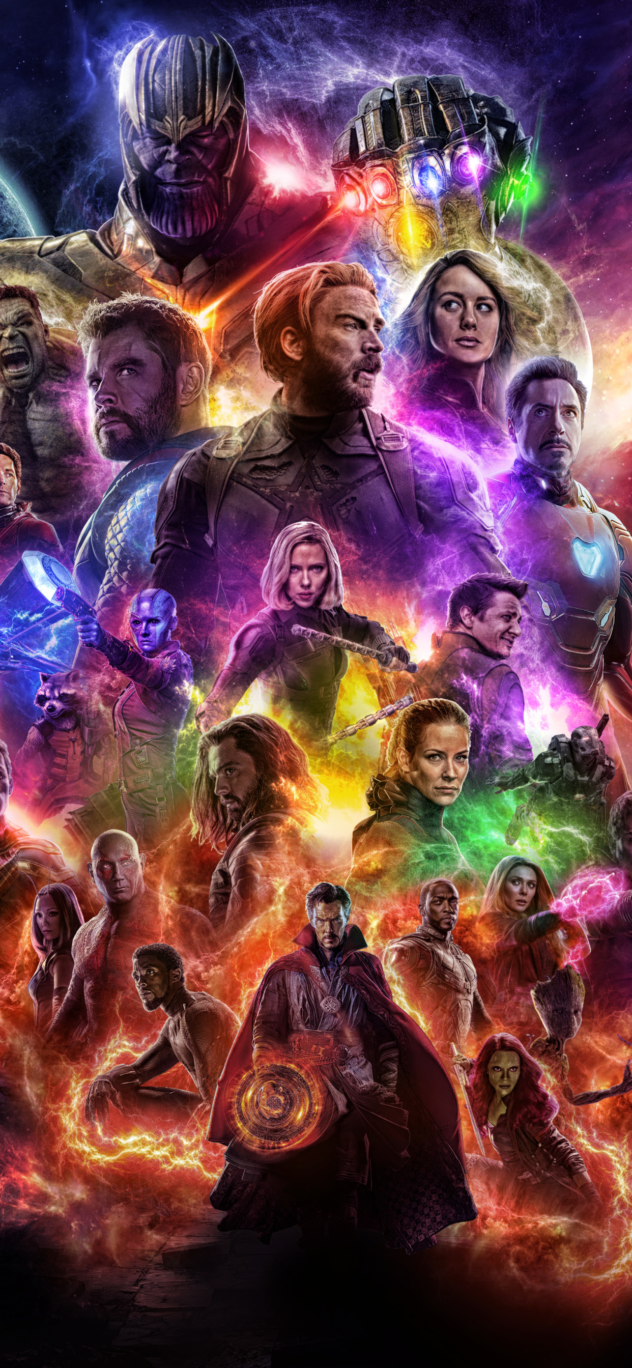 1242x2688 Avengers 4 Endgame 2019 Movie Keyart Iphone XS ...