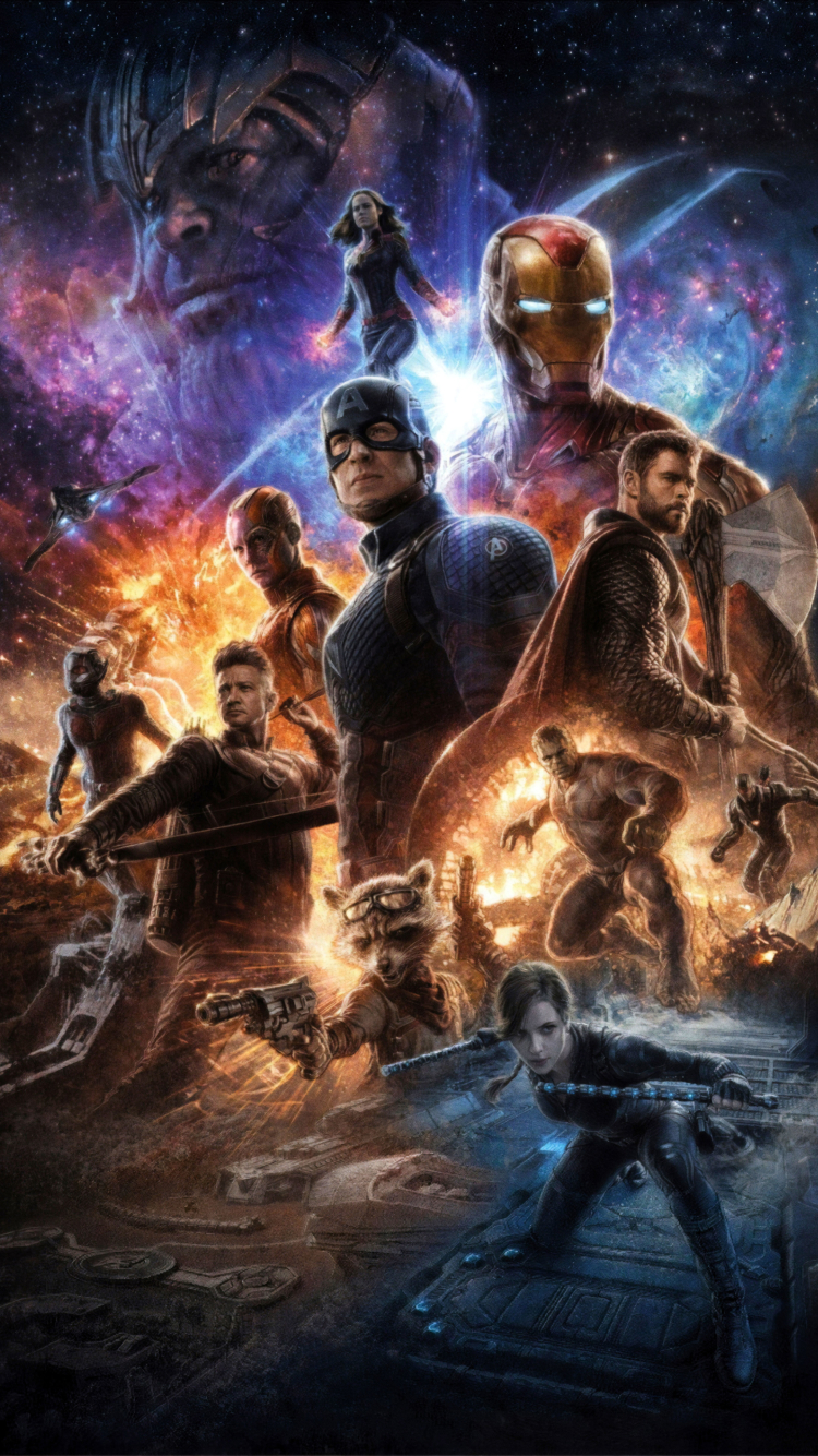 750x1334 Avengers Endgame 4K Poster iPhone 6, iPhone 6S ...