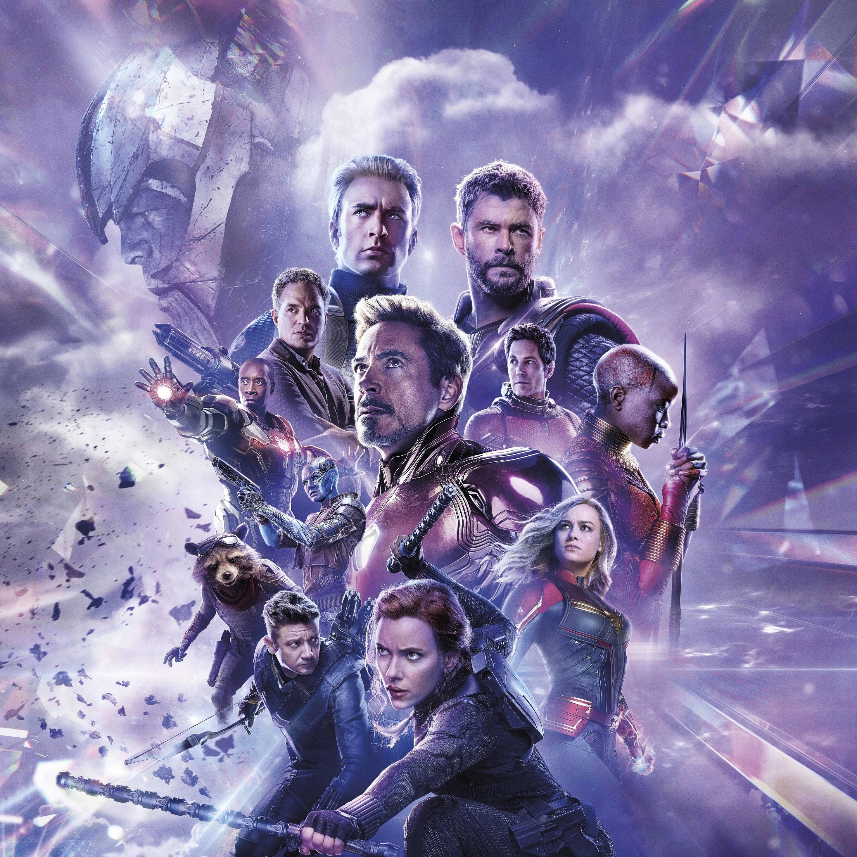 2932x2932 Avengers Endgame 8K Russian Poster Ipad Pro