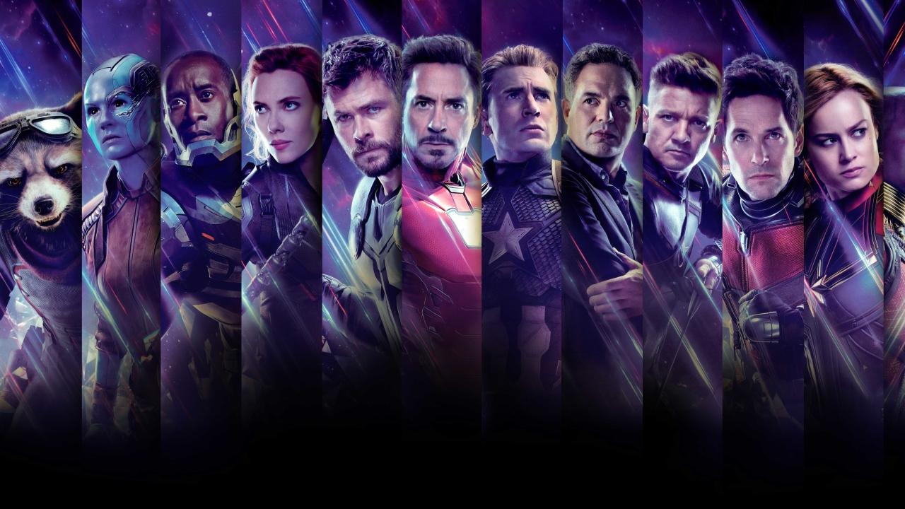 1280x720 Avengers Endgame All Superhero Characters 720P ...