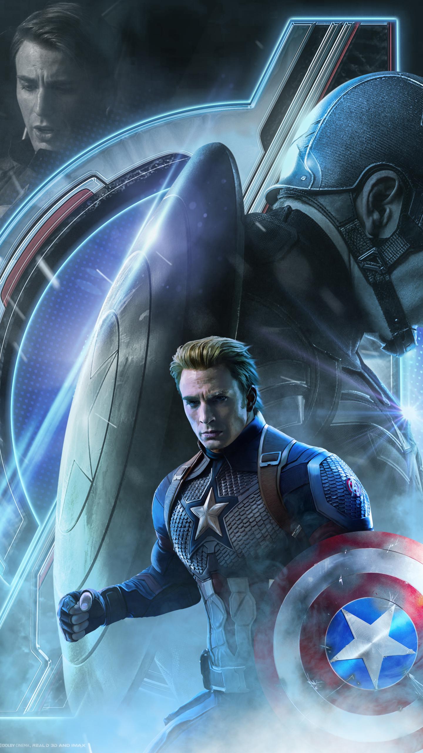 avengers captain endgame america poster wallpapers phone background samsung resolution end marvel movies sony hdqwalls google evans chris 4k pixel
