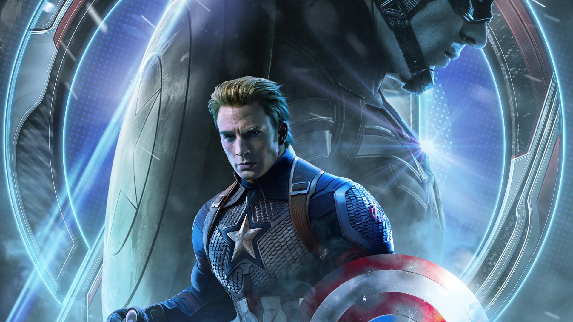 1920x1080 Avengers Endgame Captain America Poster Art 1080p Laptop