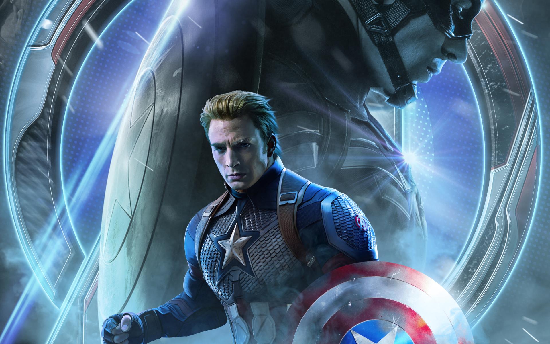 1920x1200 Avengers Endgame Captain America Poster Art ...
