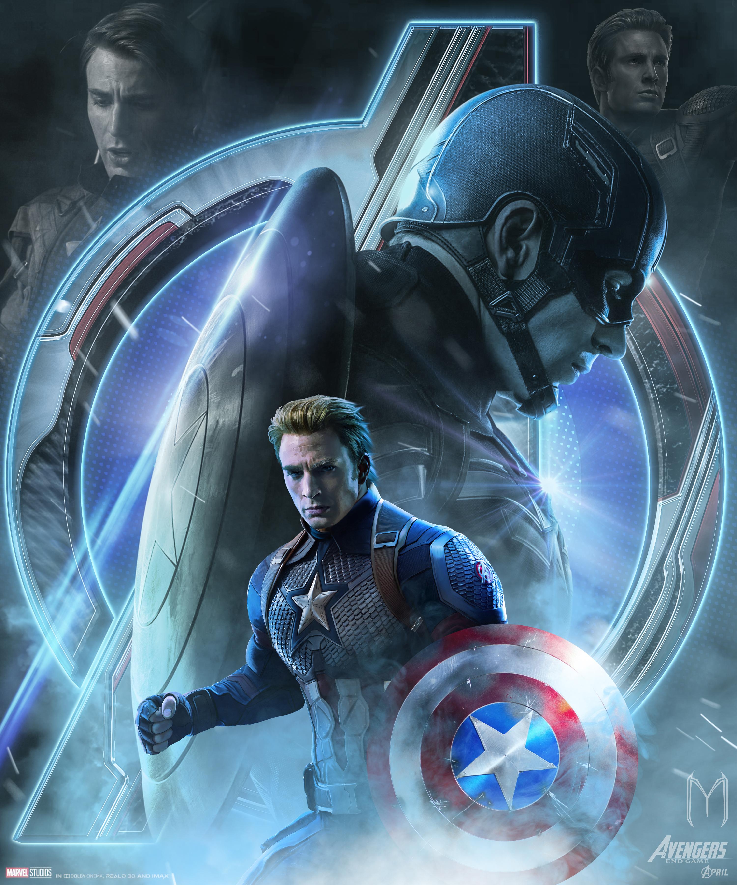 1920x1080 Avengers Endgame Captain America Poster Art