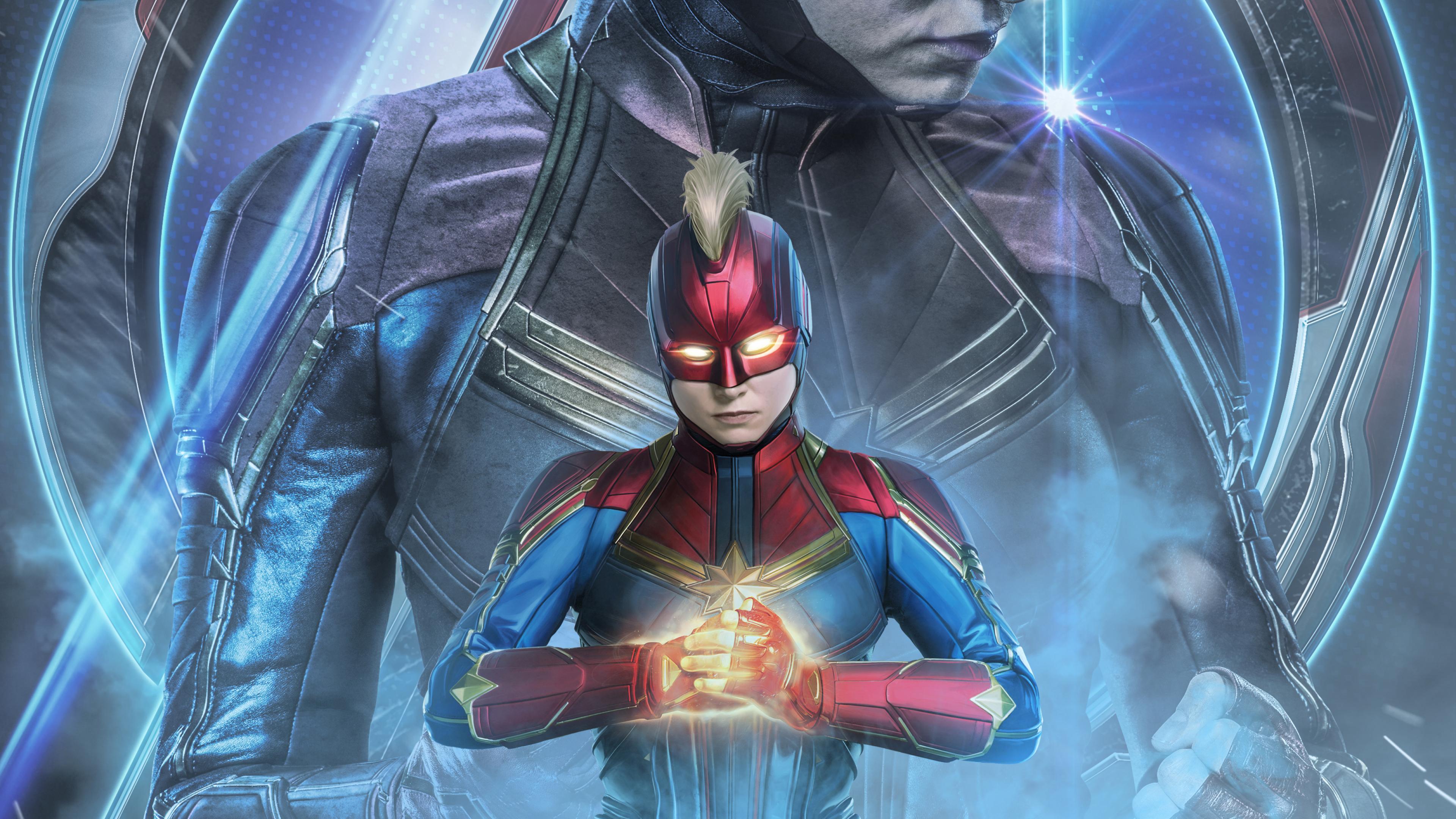 3840x2160 Avengers Endgame Captain Marvel Poster Art 4K ...