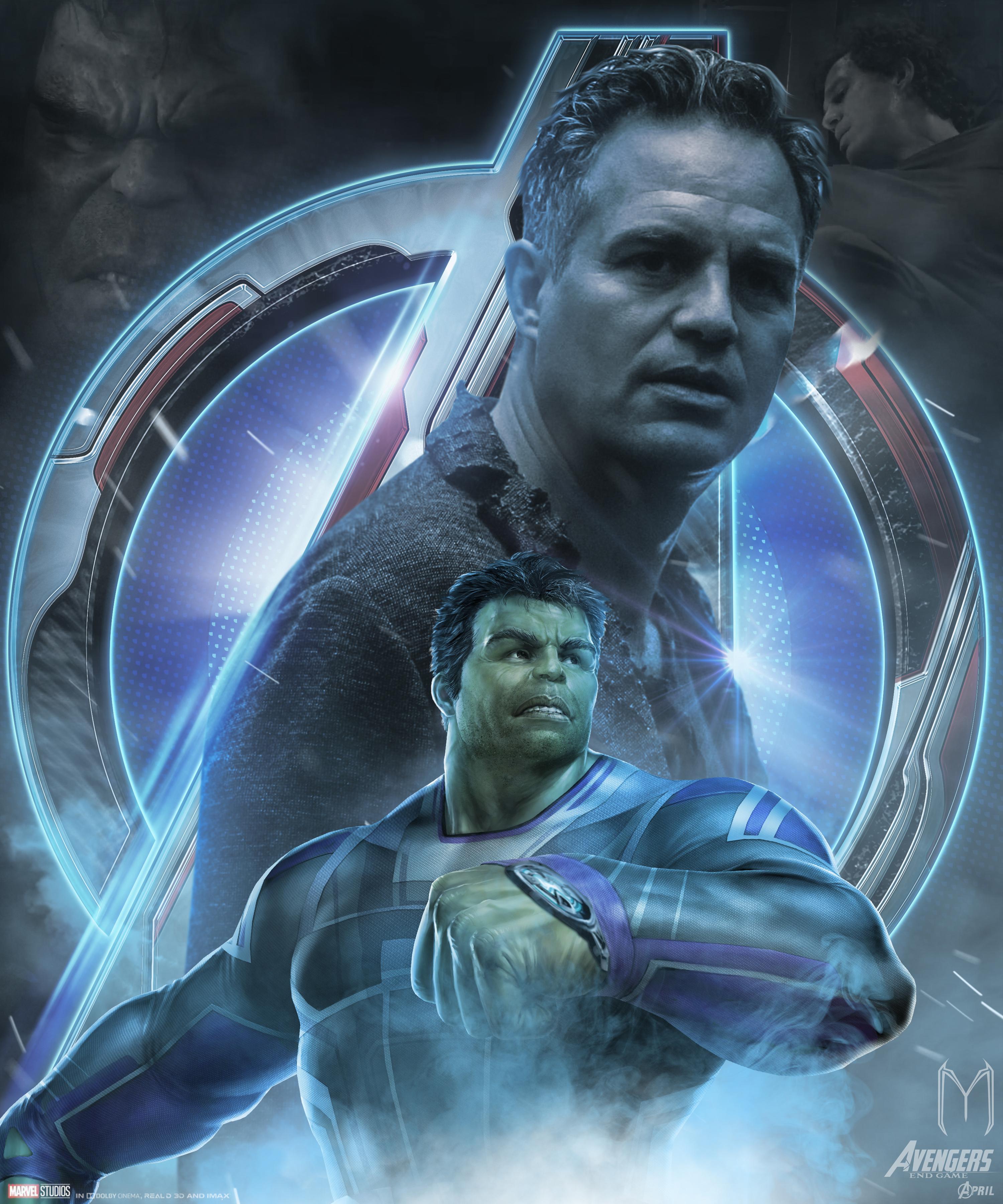 Avengers Endgame Hulk Poster Art Wallpaper, HD Movies 4K