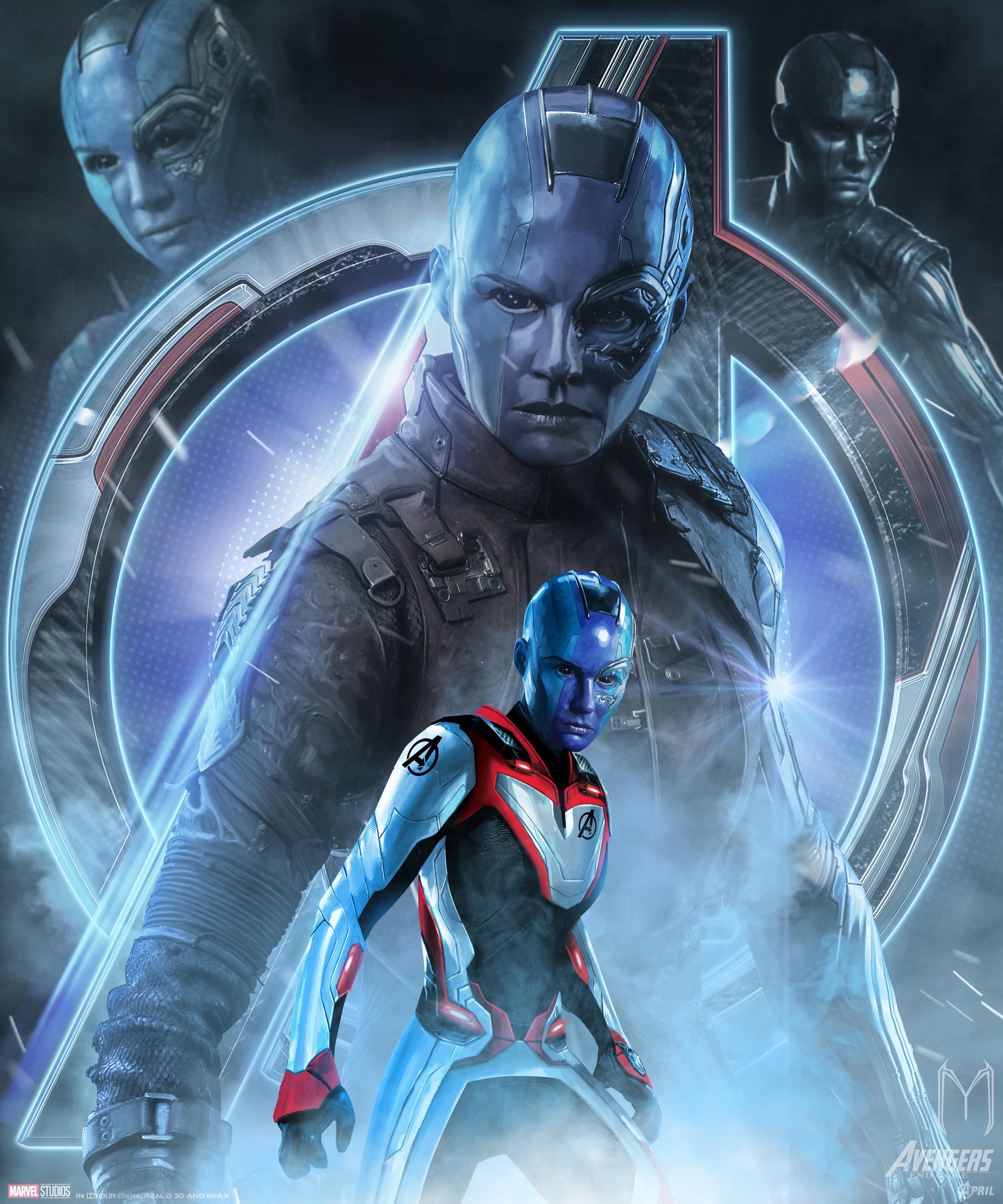 Avengers Endgame Nebula Poster Art Wallpaper, HD Movies 4K