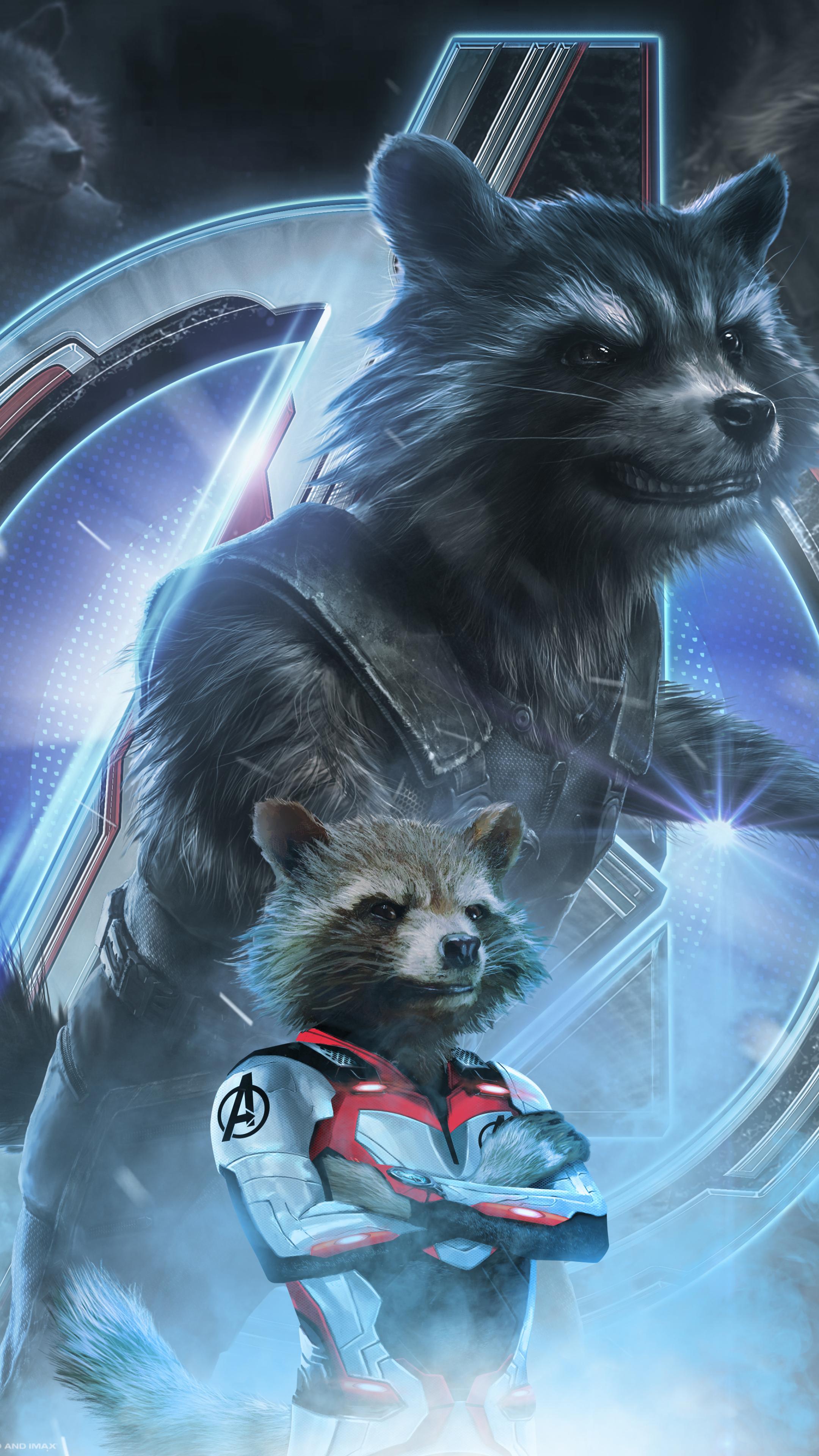 2160x3840 Avengers Endgame Rocket Raccoon Poster Art Sony Xperia X