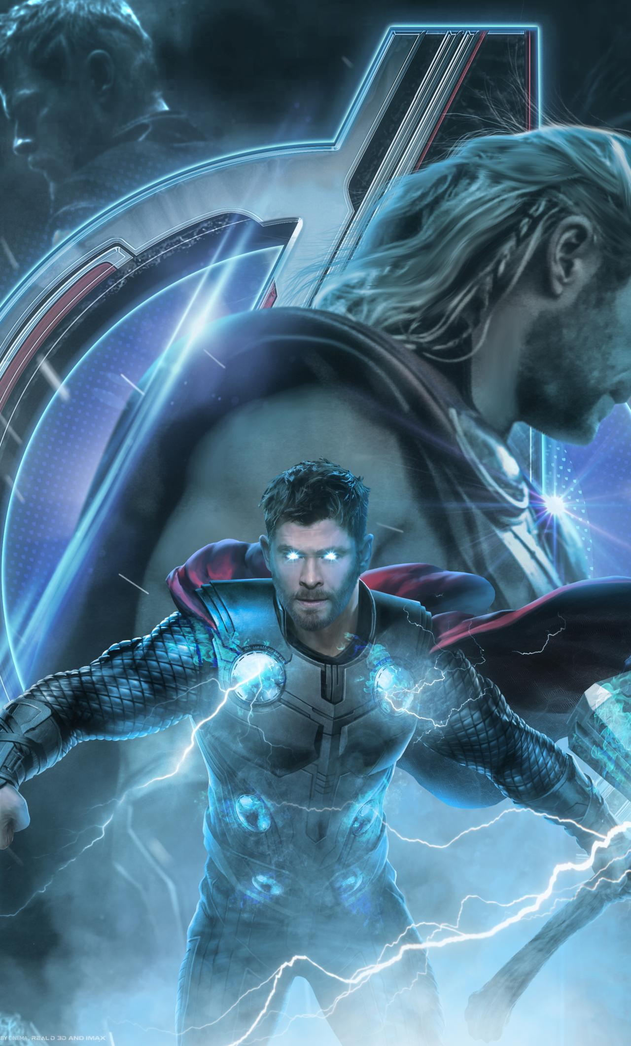 1280x2120 Avengers Endgame Thor Poster Artwork Iphone 6 Plus
