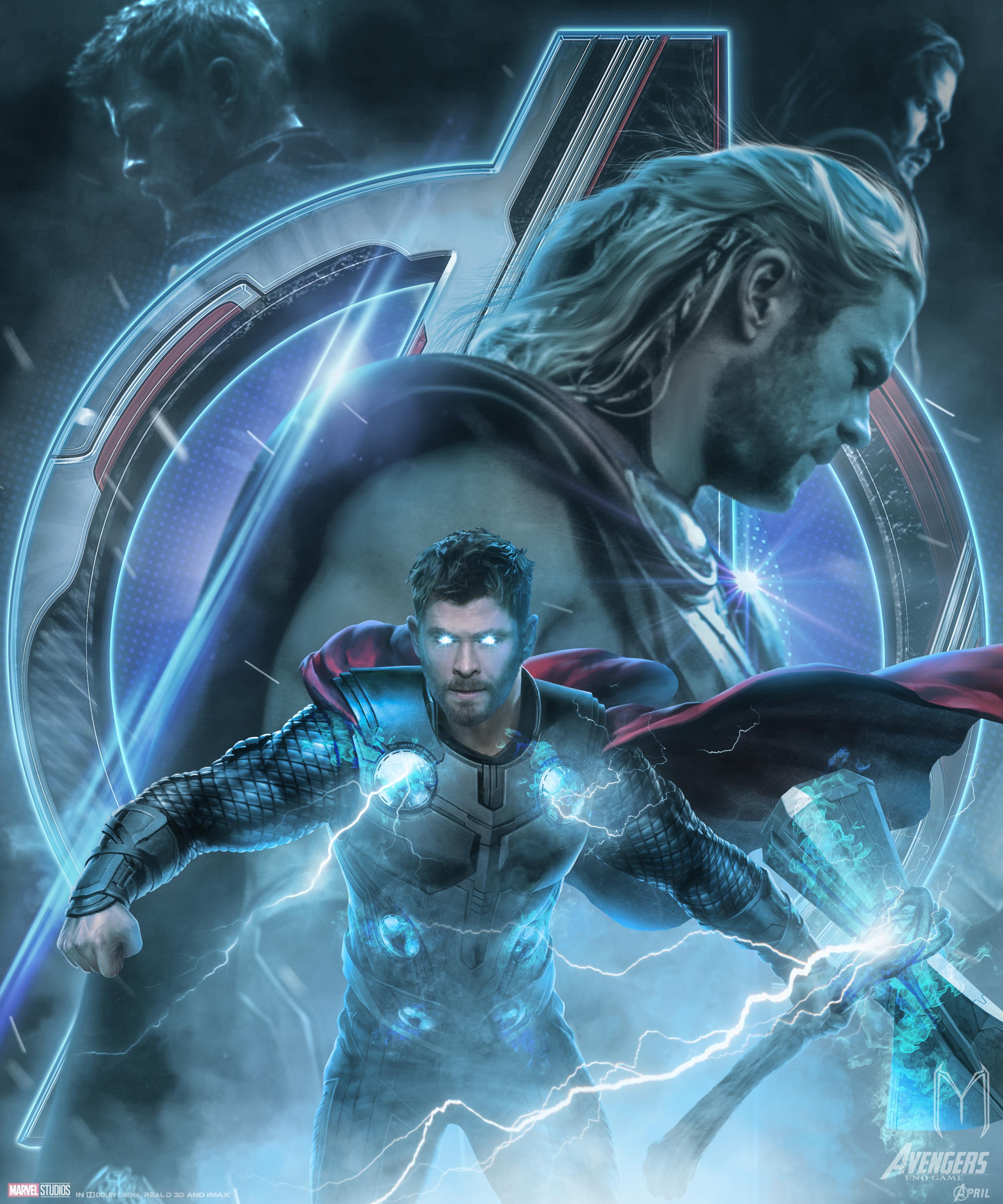 Avengers Endgame Thor Poster Artwork Wallpaper, HD Movies