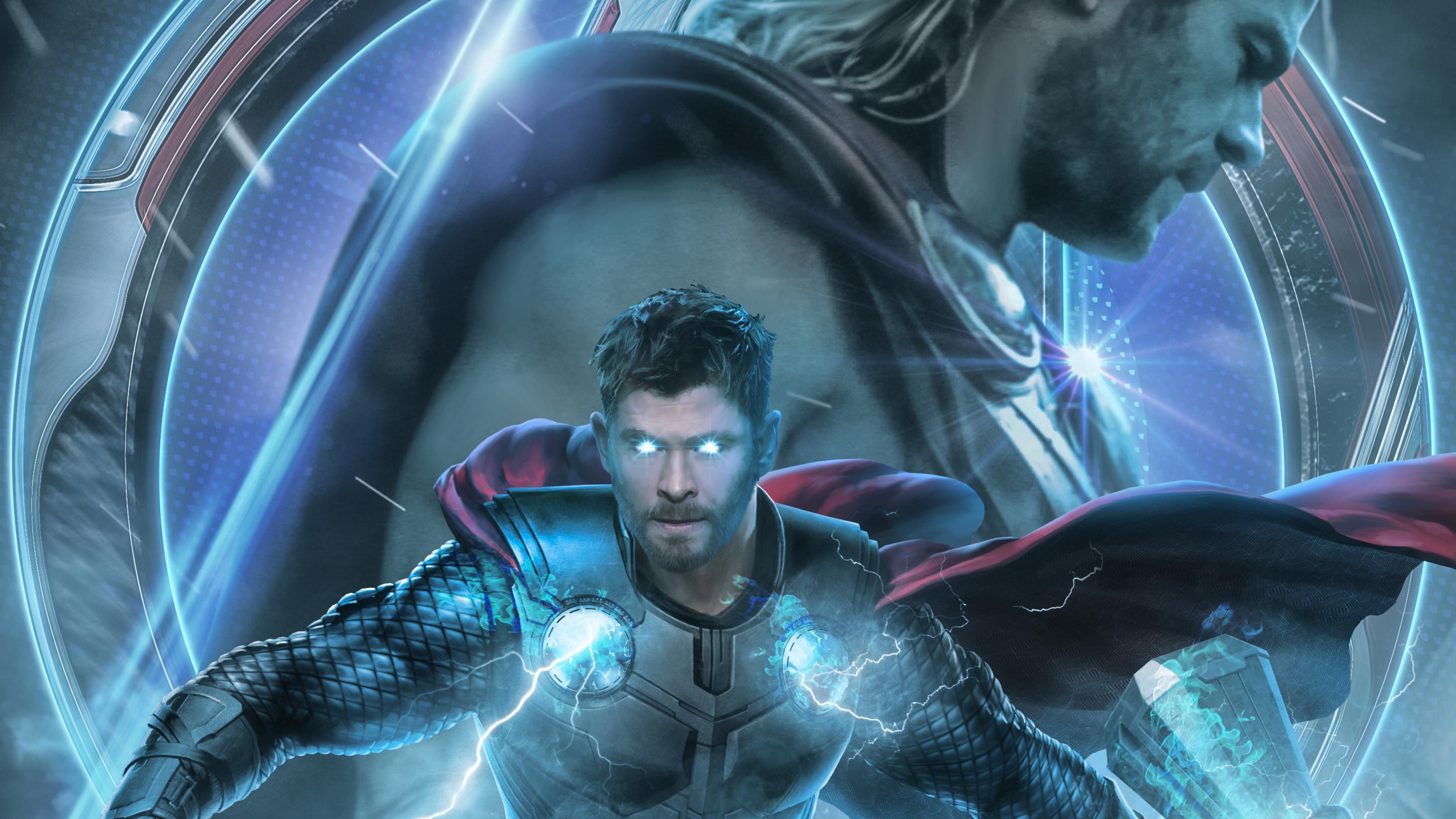 3840x2160 Avengers Endgame Thor Poster Artwork 4k Wallpaper Hd