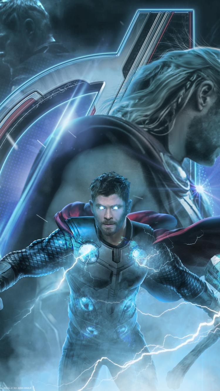 750x1334 Avengers Endgame Thor Poster Artwork iPhone 6 ...