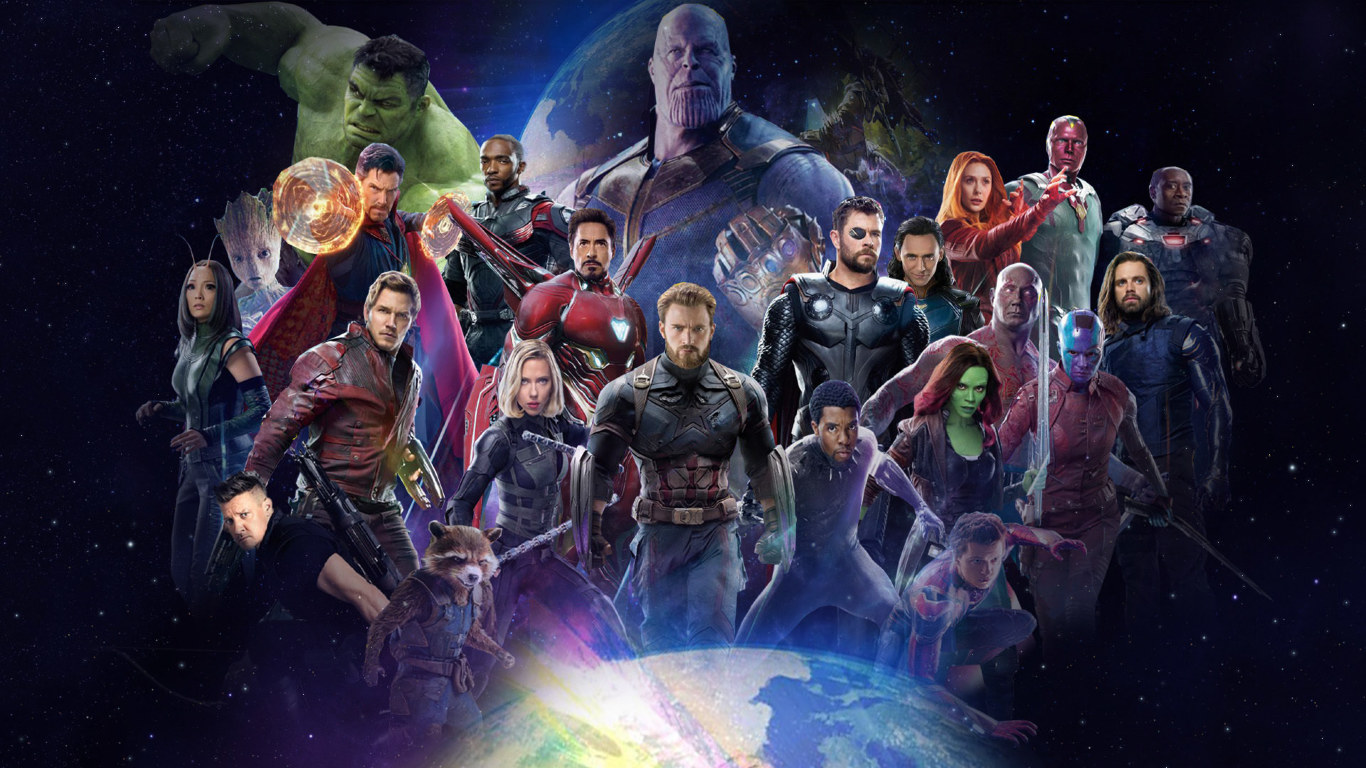 Avengers Infinity War 2018 All Characters Fan Poster, Full