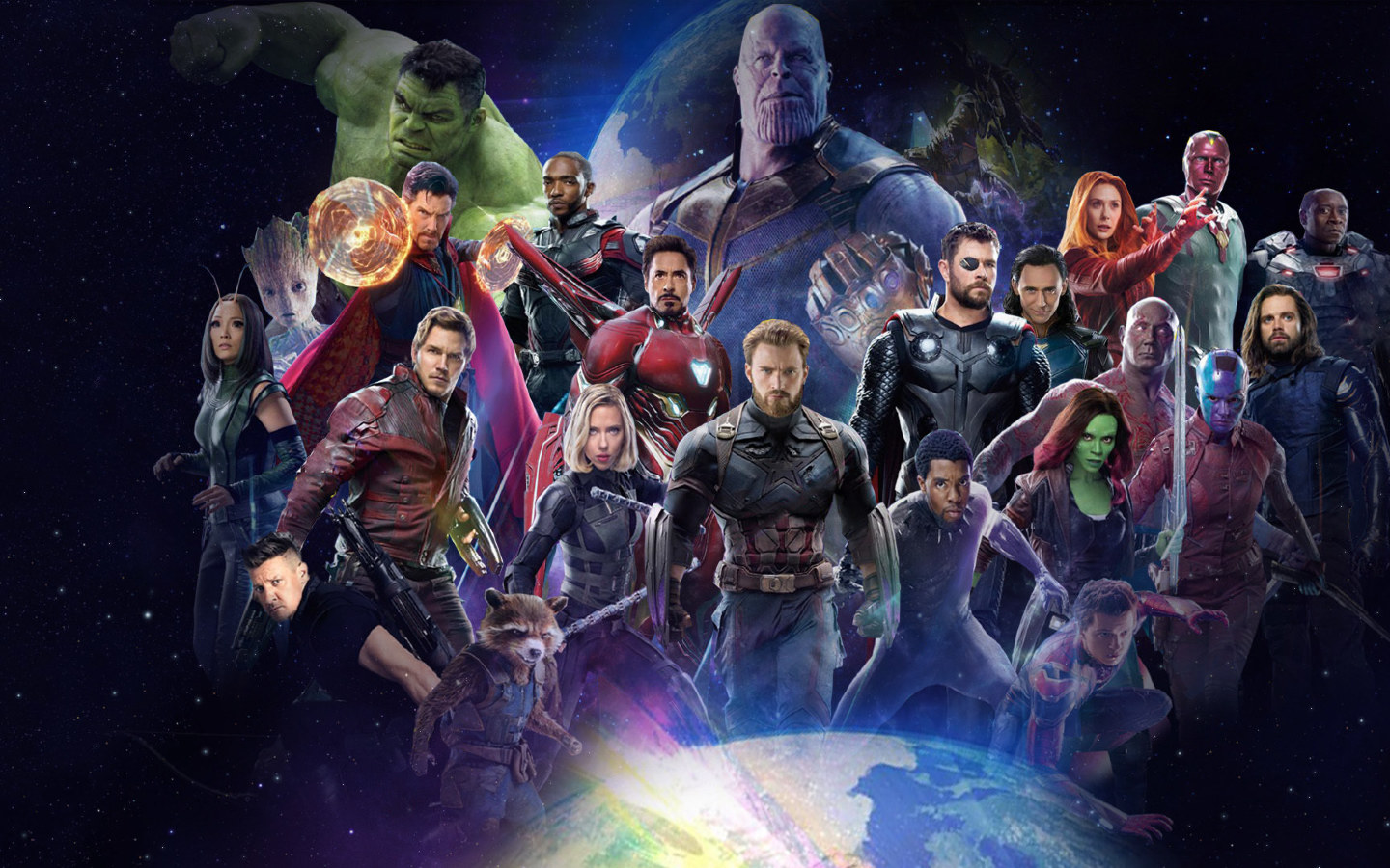 Avengers infinity war 2018 all characters fan poster full for Sfondi infinity