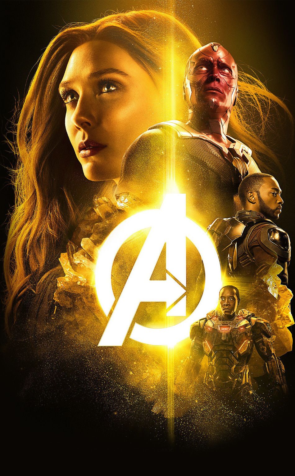 Avengers infinity war 2018 the mind stone poster hd 4k - Avengers infinity war wallpaper iphone ...