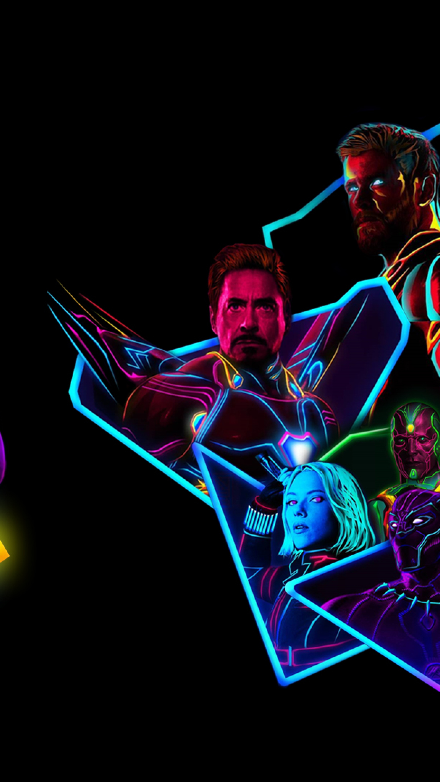 1440x2560 Avengers Infinity War 80s Neon Style Art Samsung Galaxy S6 S7 Google Pixel Xl Nexus 6 6p Lg G5 Wallpaper Hd Movies 4k Wallpapers Images Photos And Background