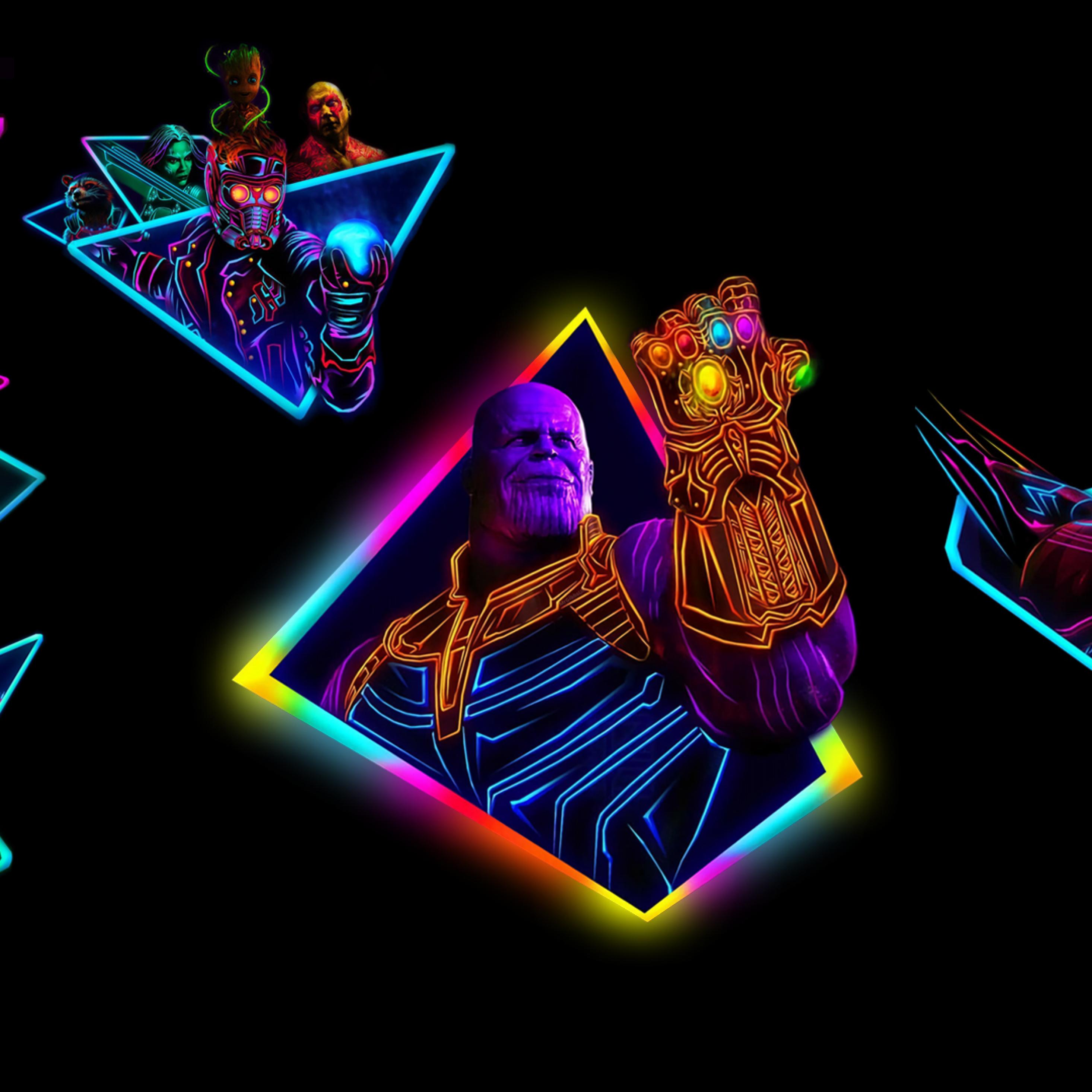 Marvel Neon Wallpaper 4k