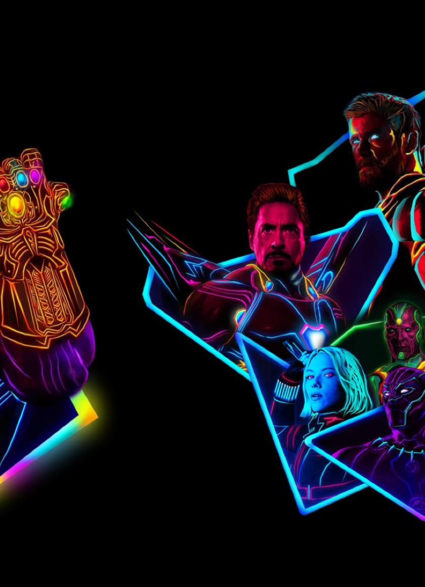 Genial Avengers Infinity War 80s Neon Style Art, Full HD Wallpaper