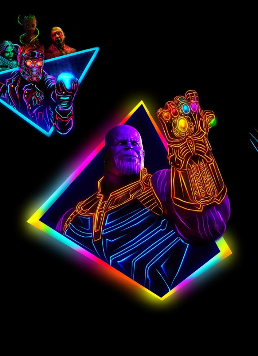 Genial Avengers Infinity War 80s Neon Style Art, Full HD Wallpaper