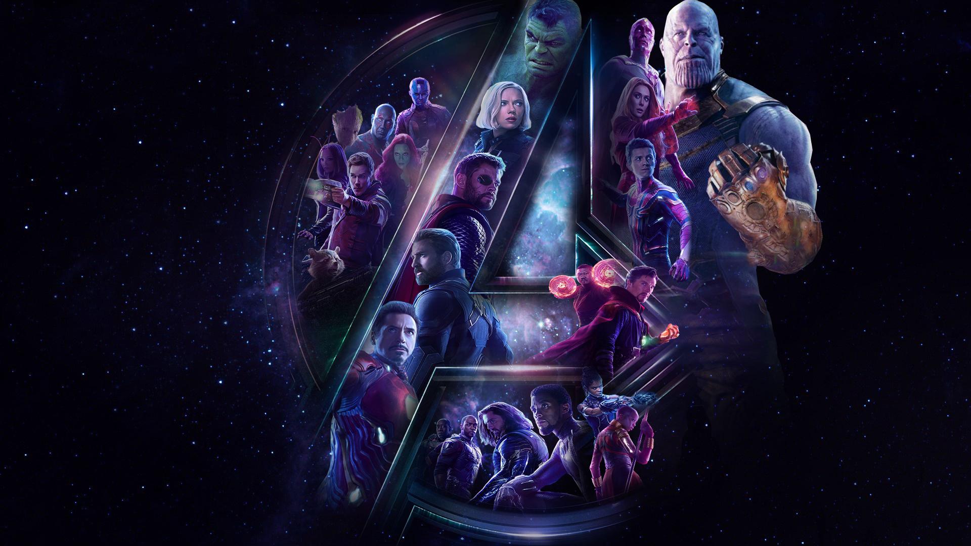 Avengers Infinity War All Superhero And Villain Poster