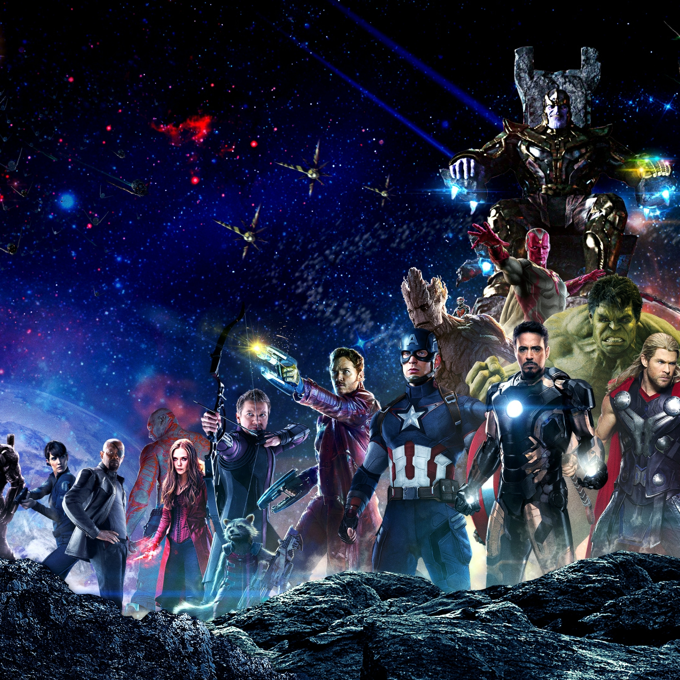 Great Wallpaper Marvel Ipad Mini - avengers-infinity-war-all-superhero-characters_61170_2248x2248  Perfect Image Reference_241123.jpg