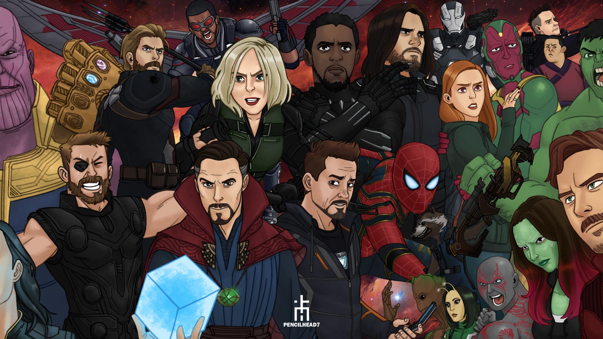 2560x1440 Avengers Infinity War Artwork 1440p Resolution