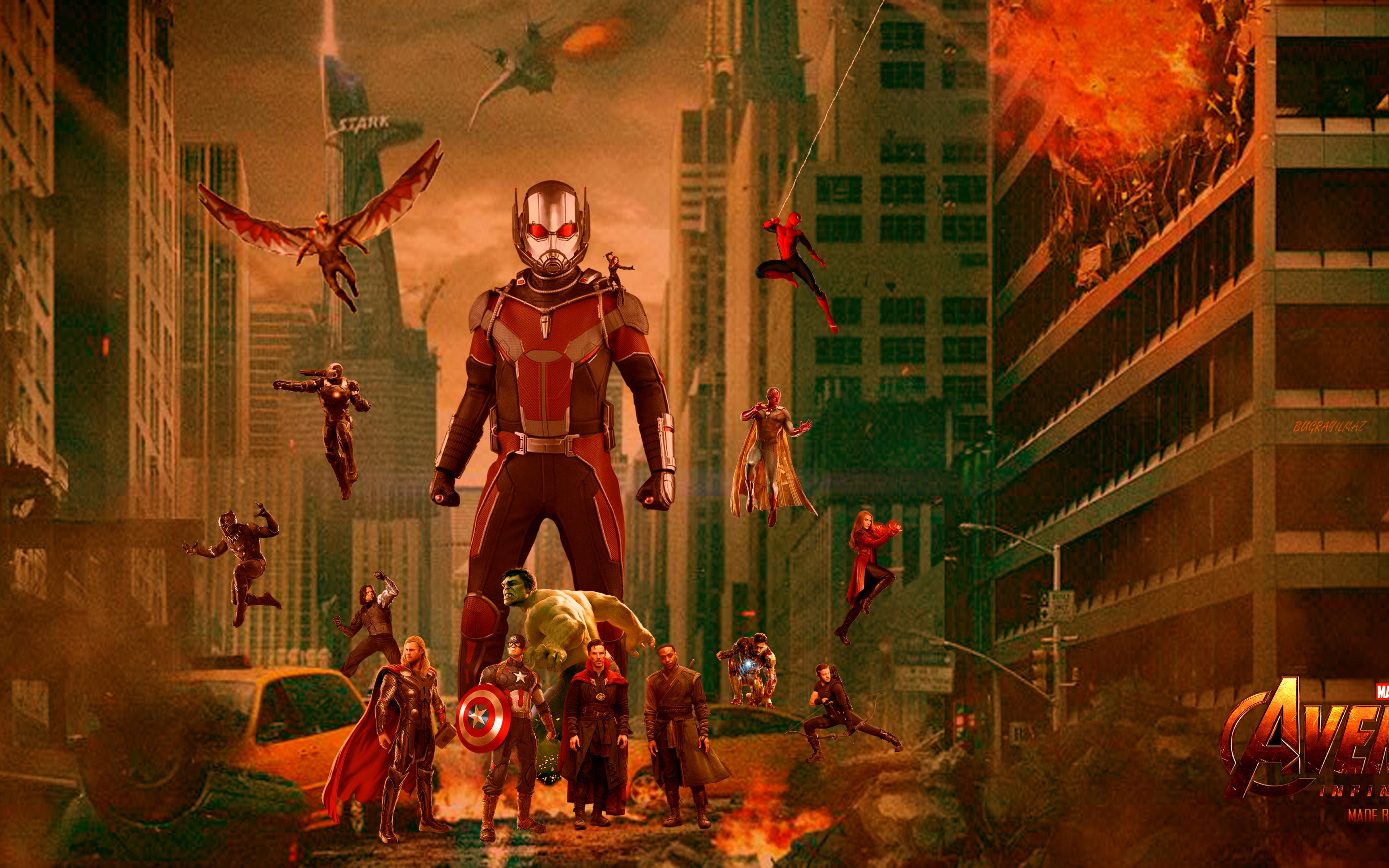 Wallpaper Fan Art 4k Pubattlegrounds: Avengers Infinity War Fan Art, HD 4K Wallpaper