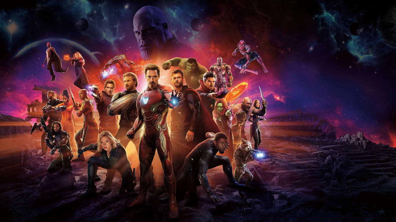 Avengers infinity war international poster hd 10k wallpaper - 1366x768 is 720p or 1080p ...