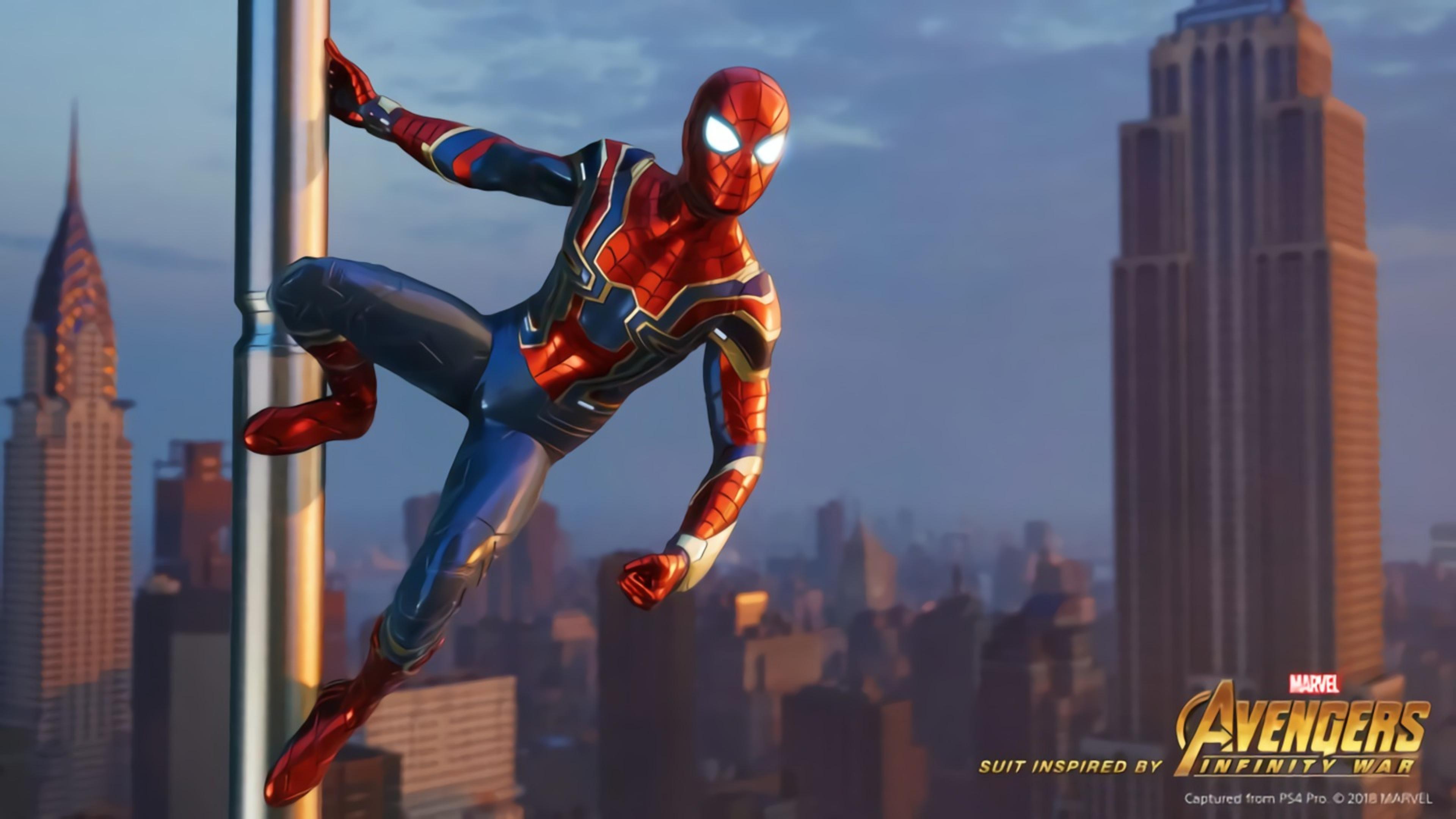 3840x2160 Avengers Infinity War Iron Spider In Spider Man