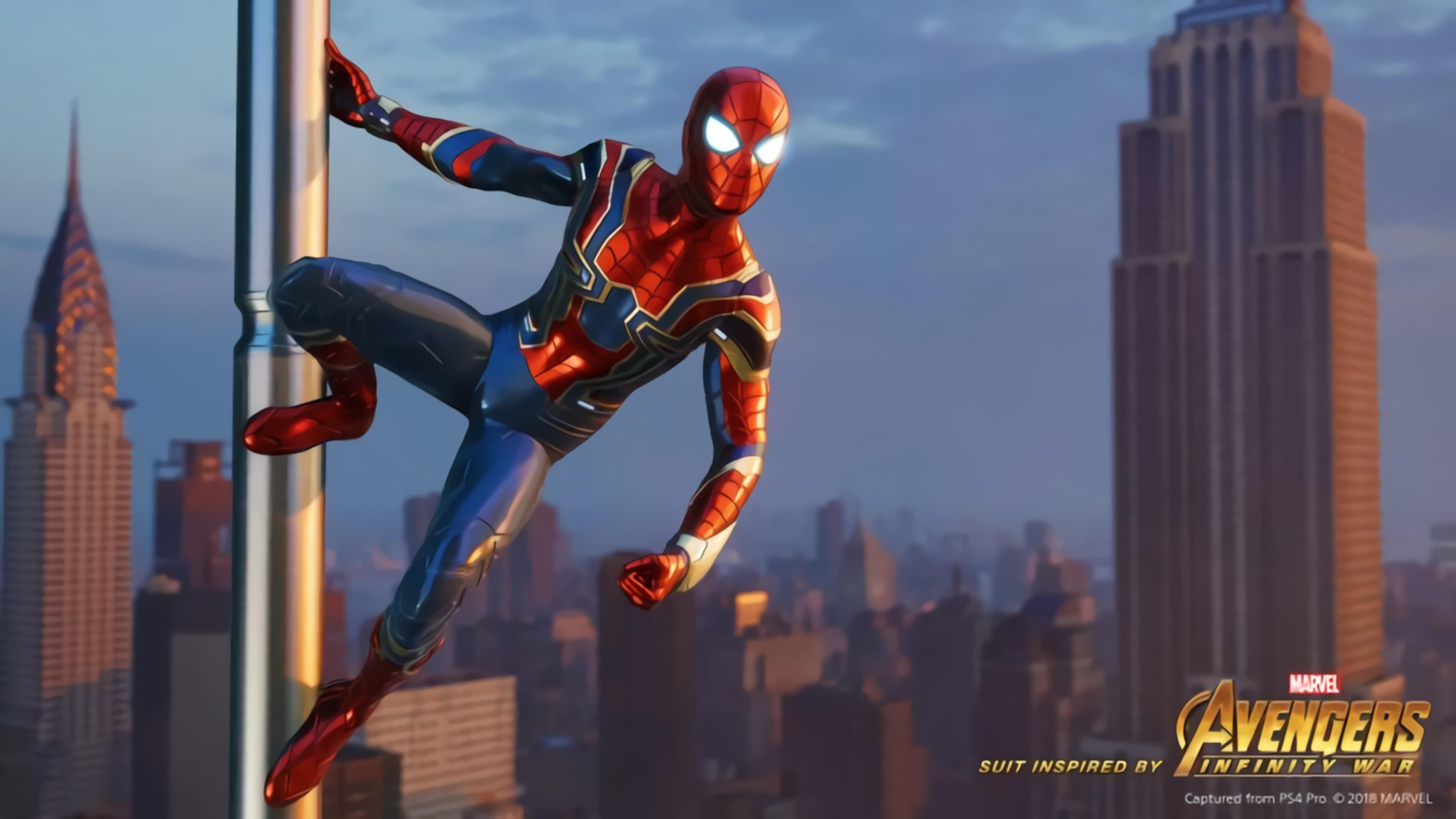 7680x4320 Avengers Infinity War Iron Spider In Spider Man Game 8k