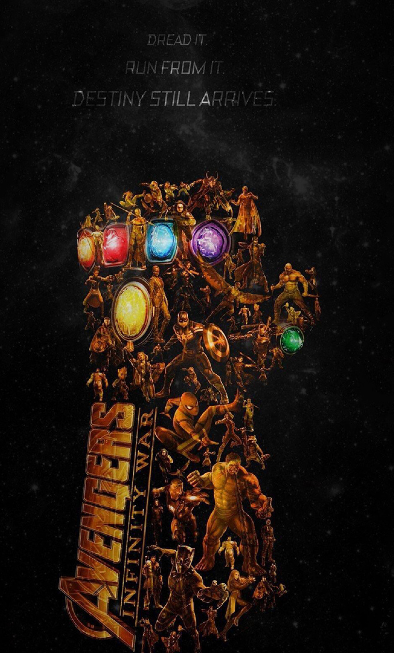 Download Avengers Infinity War Latest Poster 1280x2120 Resolution