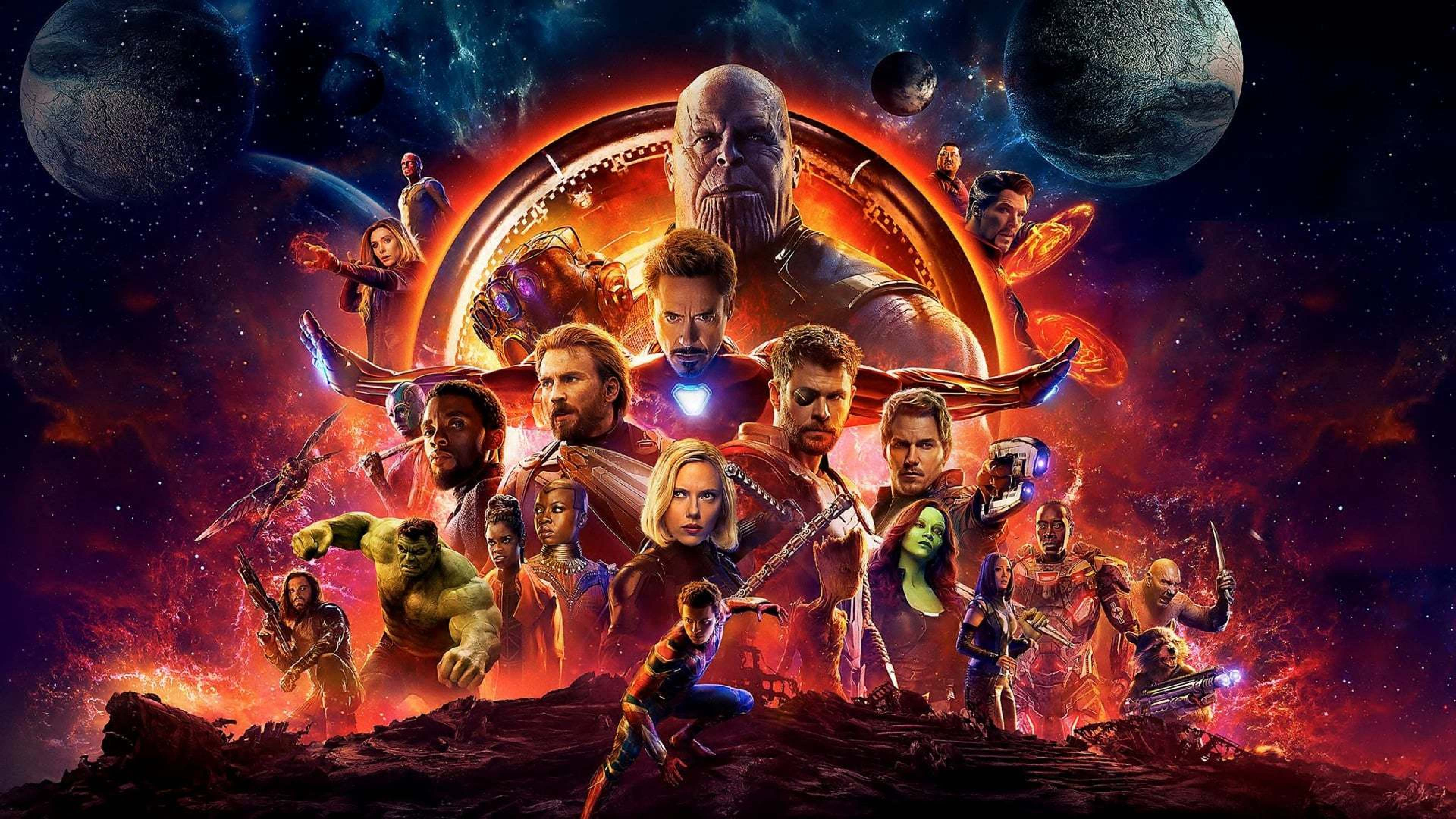 Download Avengers Infinity War Official Poster 3840x2160