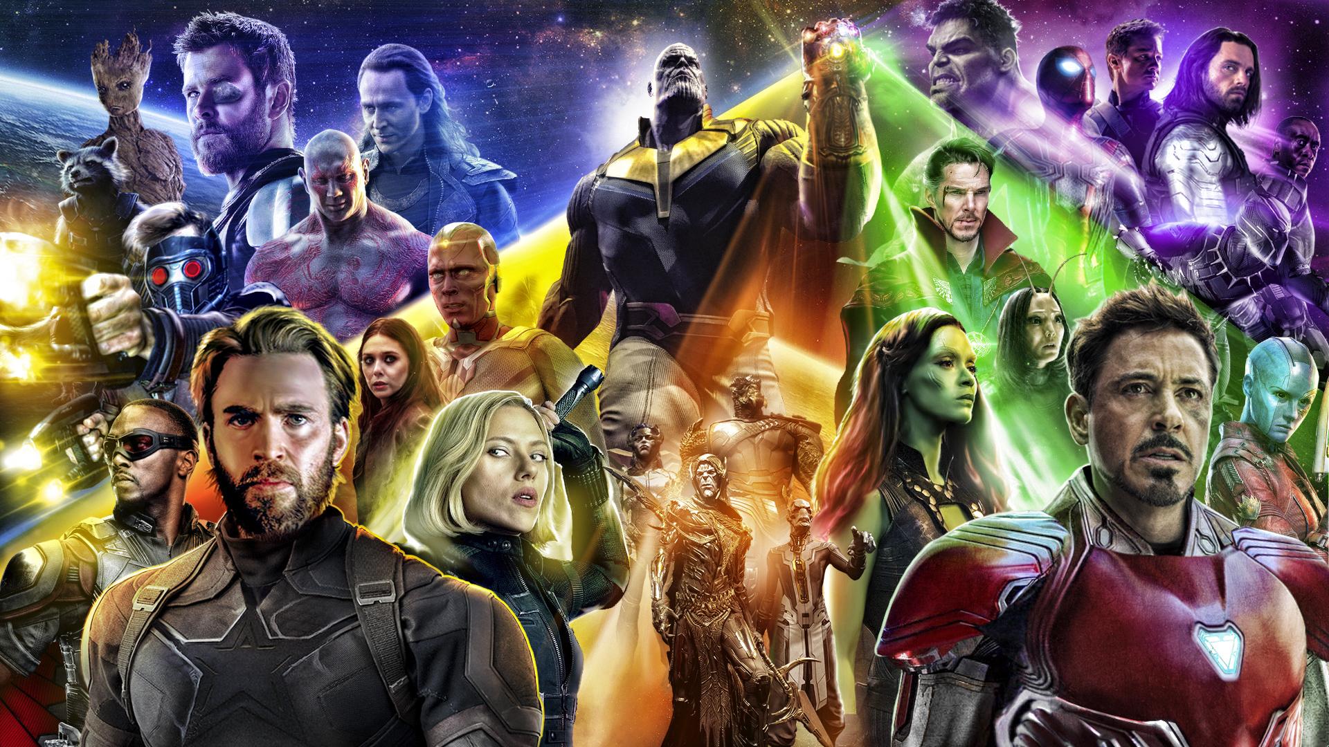 download avengers infinty war 2018 poster 2048x1152 resolution full