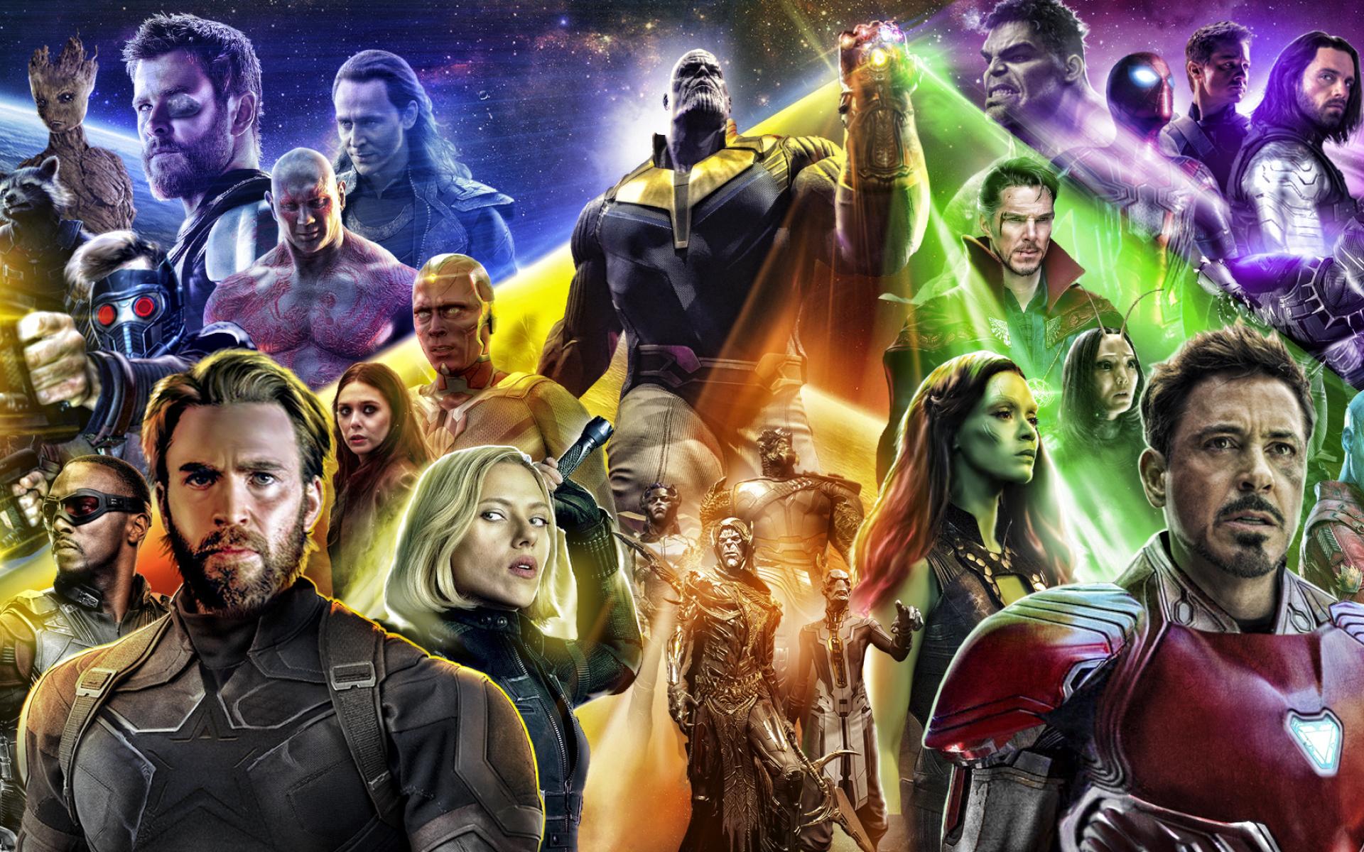 復仇者聯盟4 Picture: Download Avengers Infinty War 2018 Poster 7680x4320 Resolution, Full HD Wallpaper