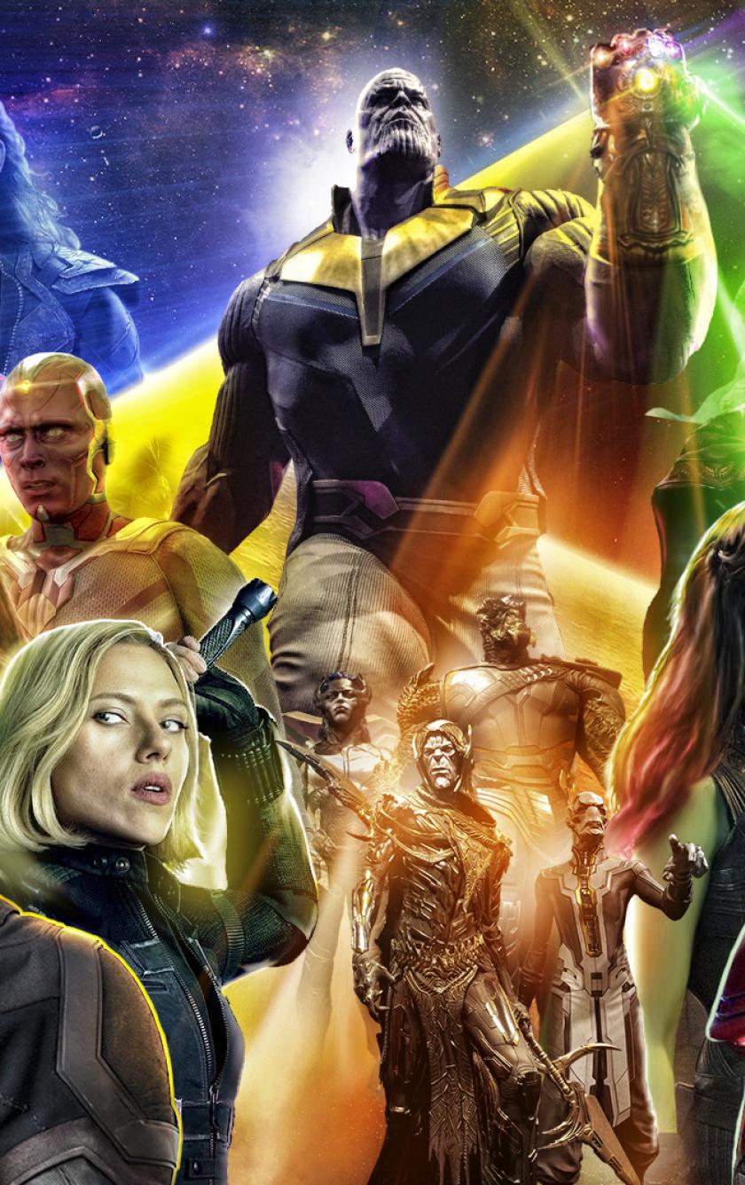 Avengers infinty war 2018 poster full hd wallpaper - Images avengers ...