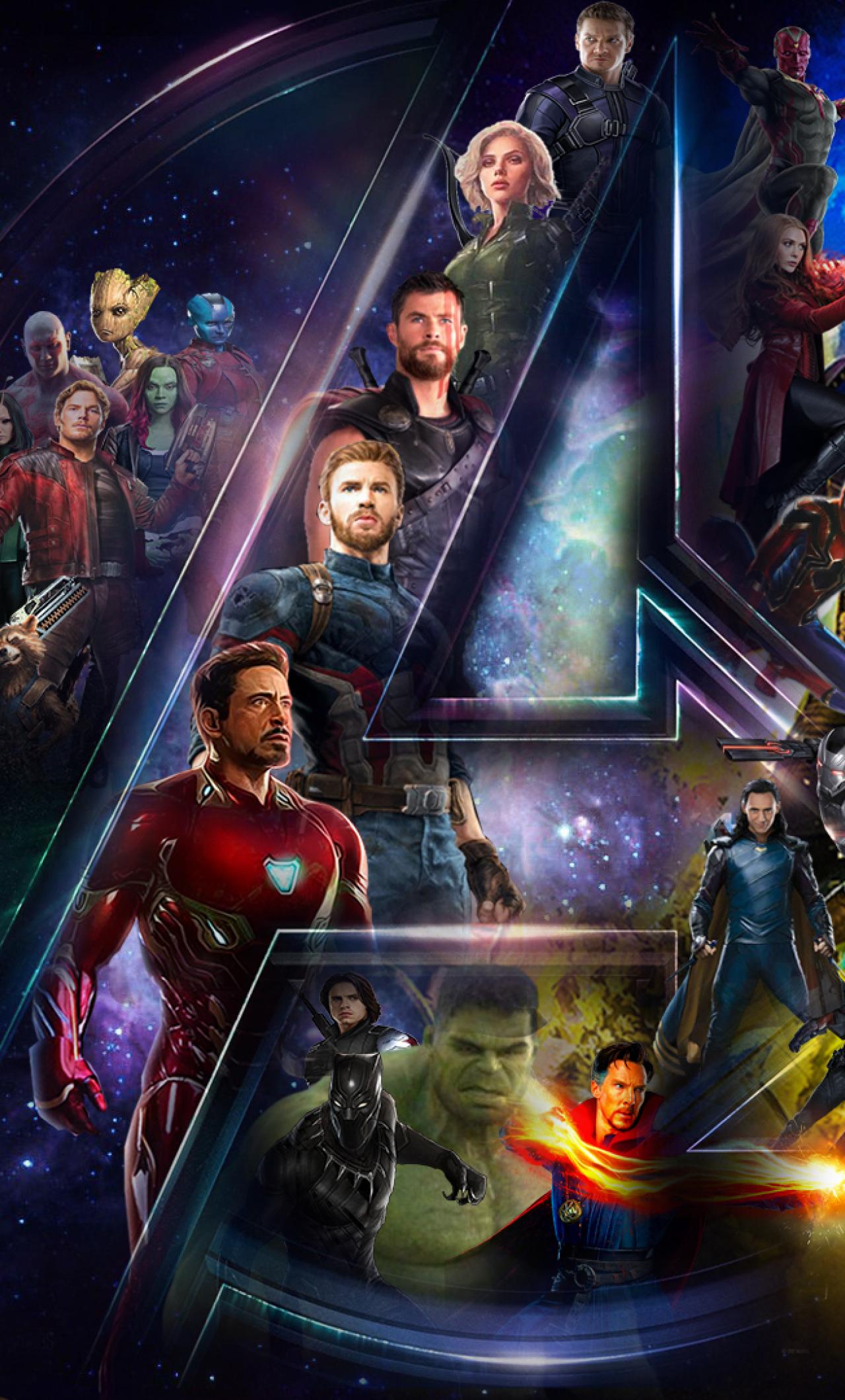 Download avengers infinty war star cast and logo 1440x2560 - Avengers infinity war wallpaper iphone ...