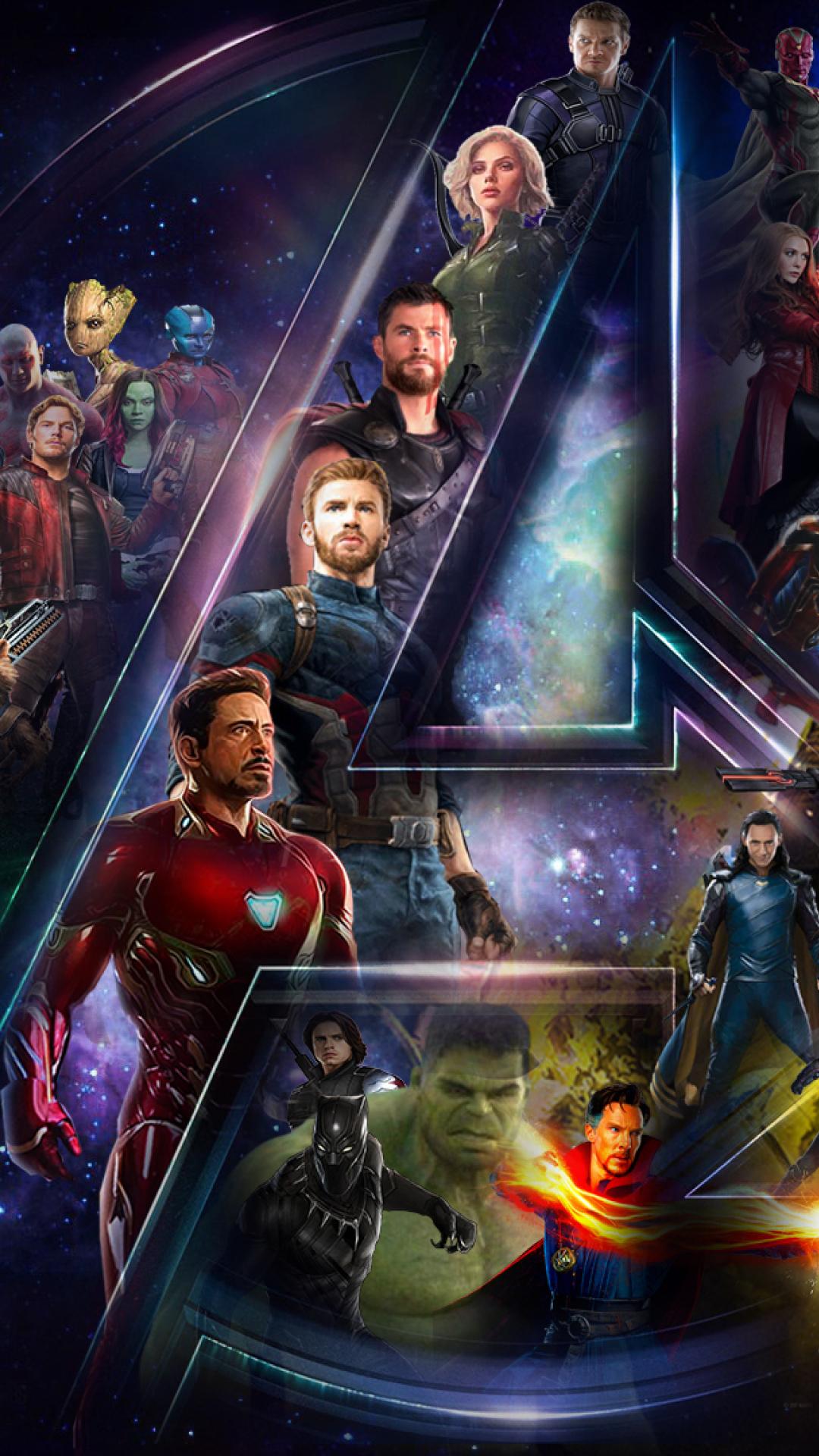 Avengers Infinty War Star Cast And Logo Full Hd Wallpaper