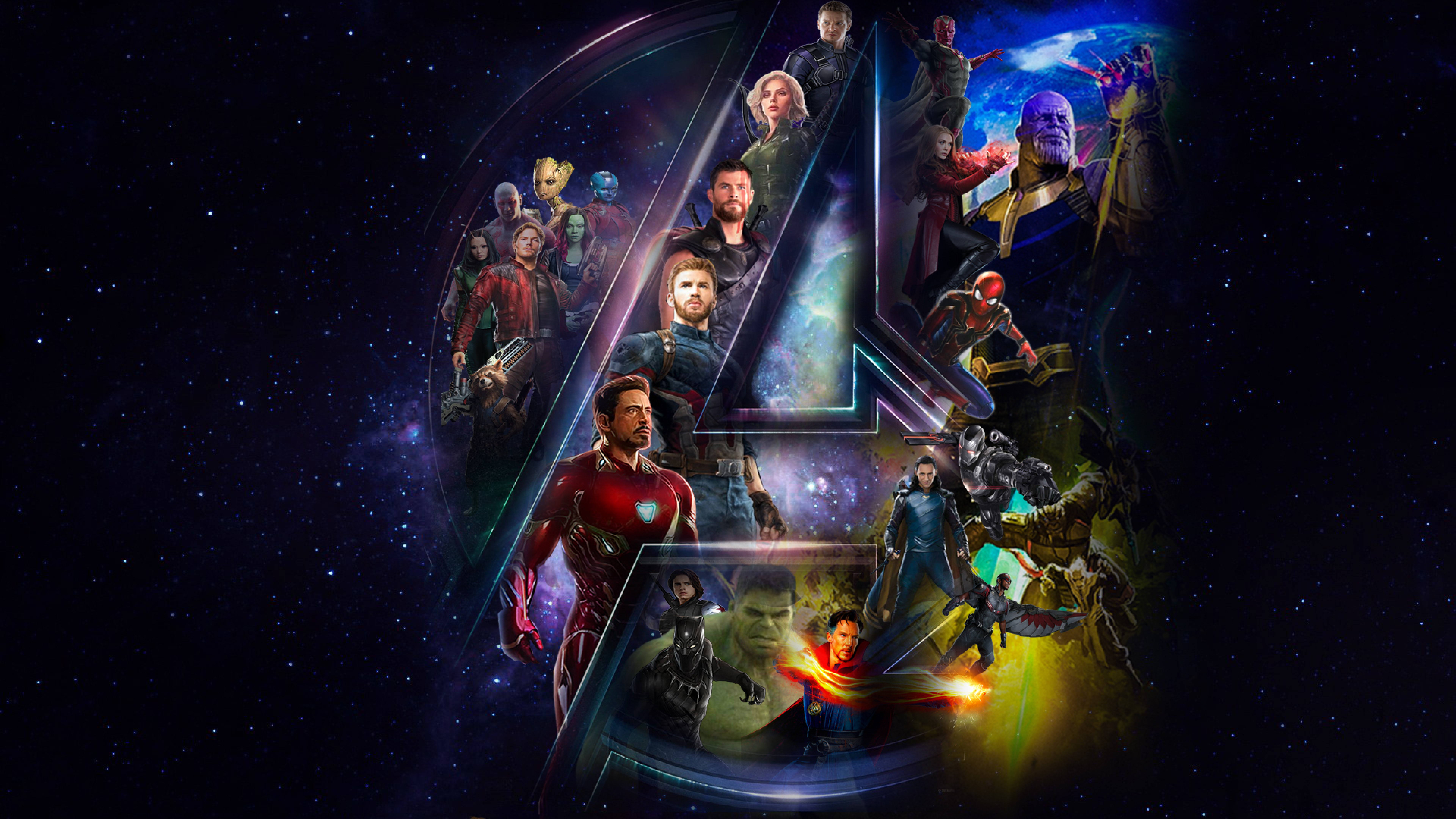 Download Avengers Infinty War Star Cast And Logo 1024x600
