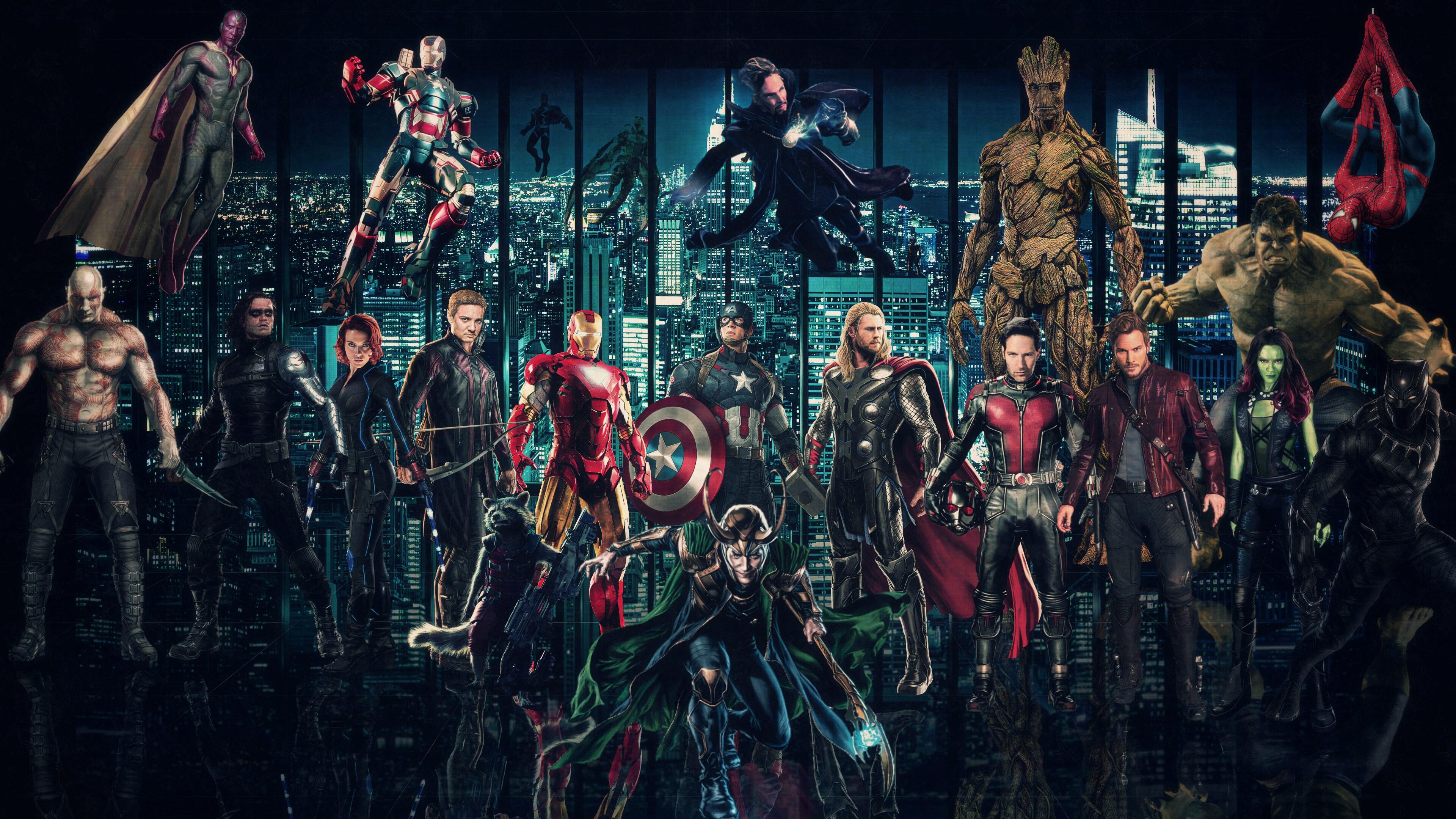 Download Avengers Infinty War Superheroes 2018 2560x1080