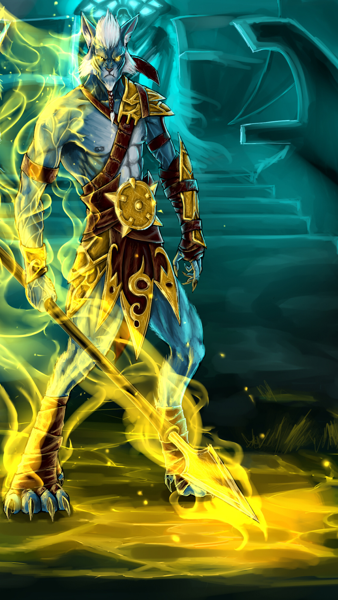 Download Azwraith Phantom Lancer Dota 2 1080x1920 Resolution Full