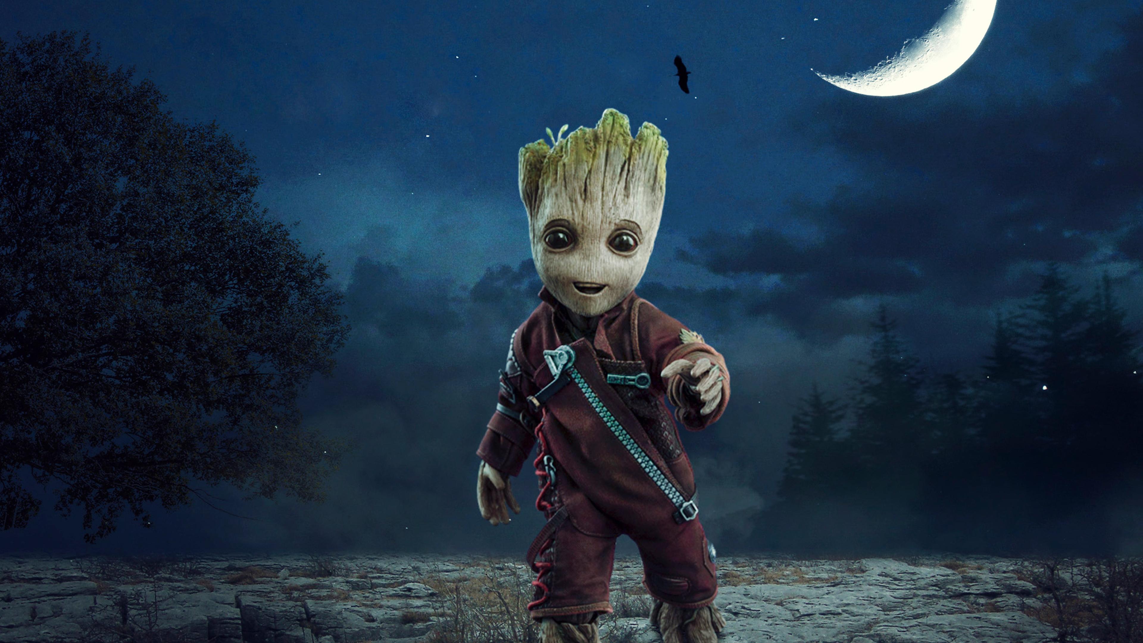 3840x2160 Baby Groot 4K Wallpaper, HD Artist 4K Wallpapers ...