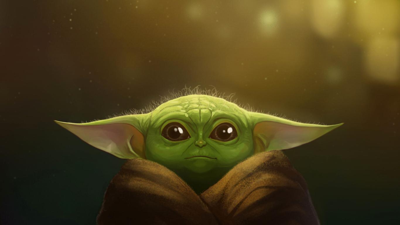 1366x768 Baby Yoda FanArt 2019 1366x768 Resolution ...