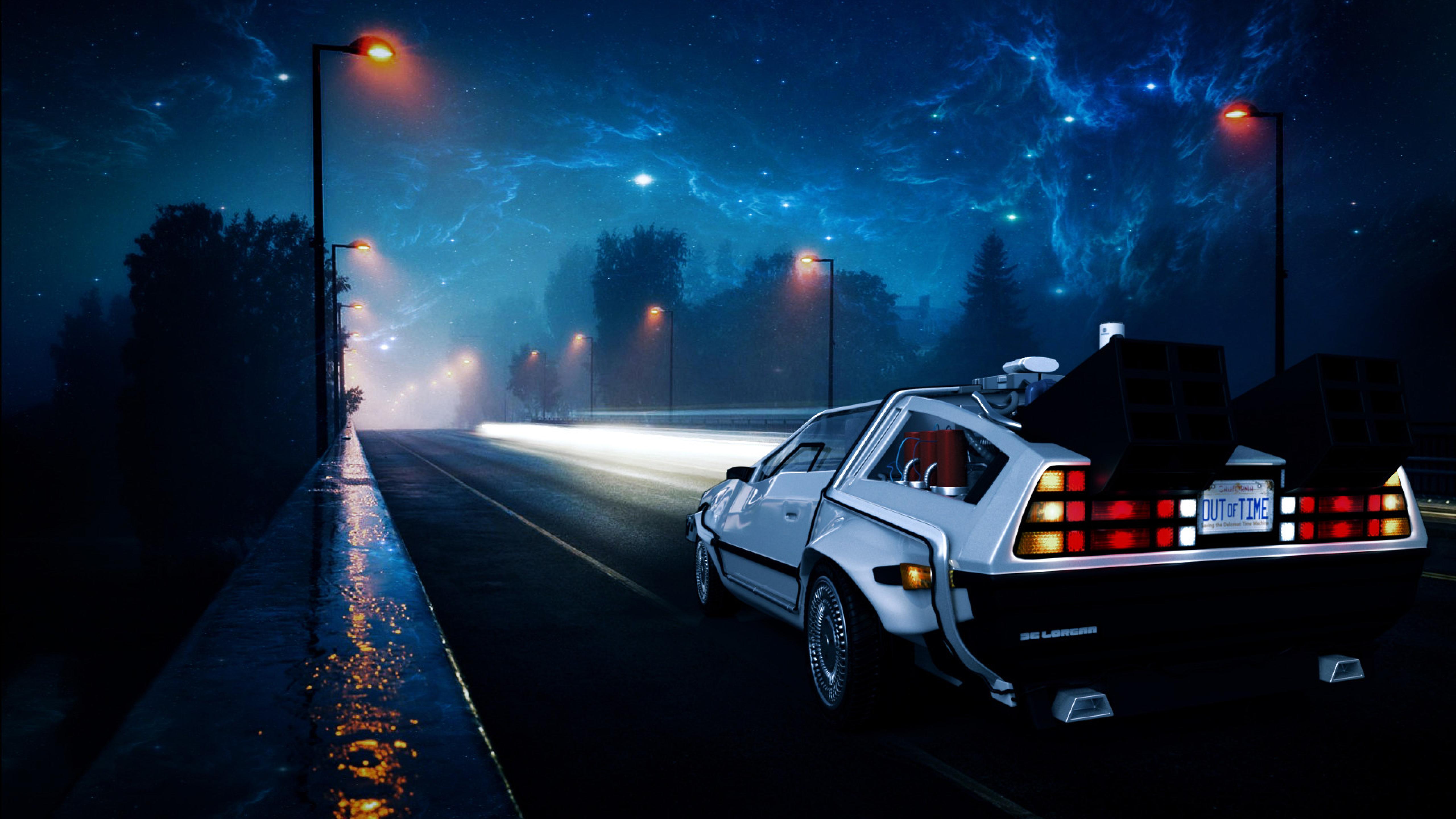 Back To The Future Delorean Car Illustration, Full HD ...