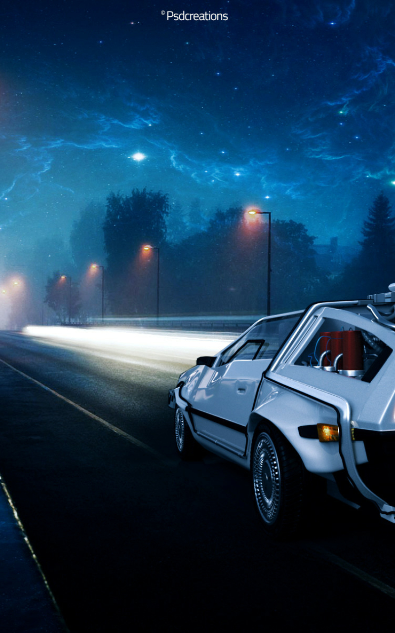 Back To The Future Delorean Car Illustration, Full HD