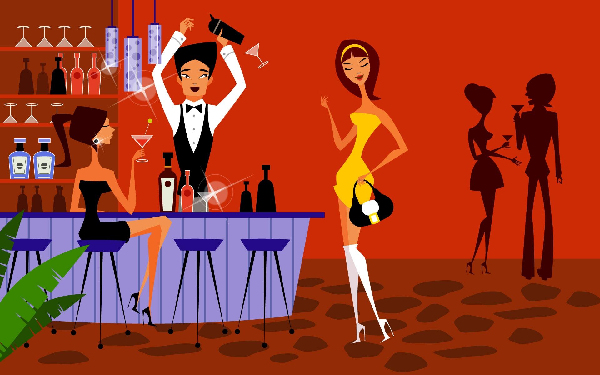 Открытки с баром