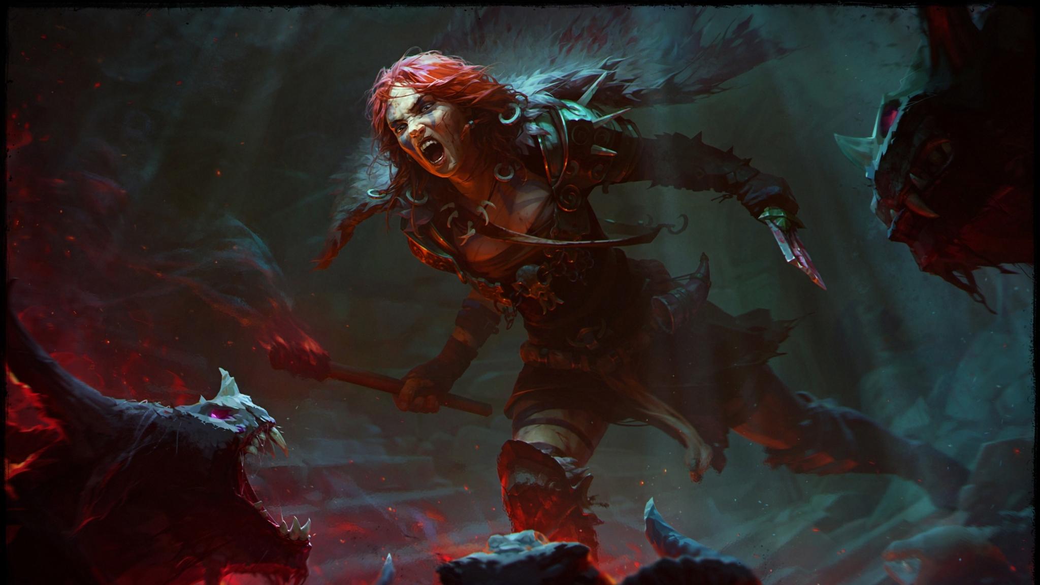 2048x1152 Barbarian Diablo 2048x1152 Resolution Wallpaper