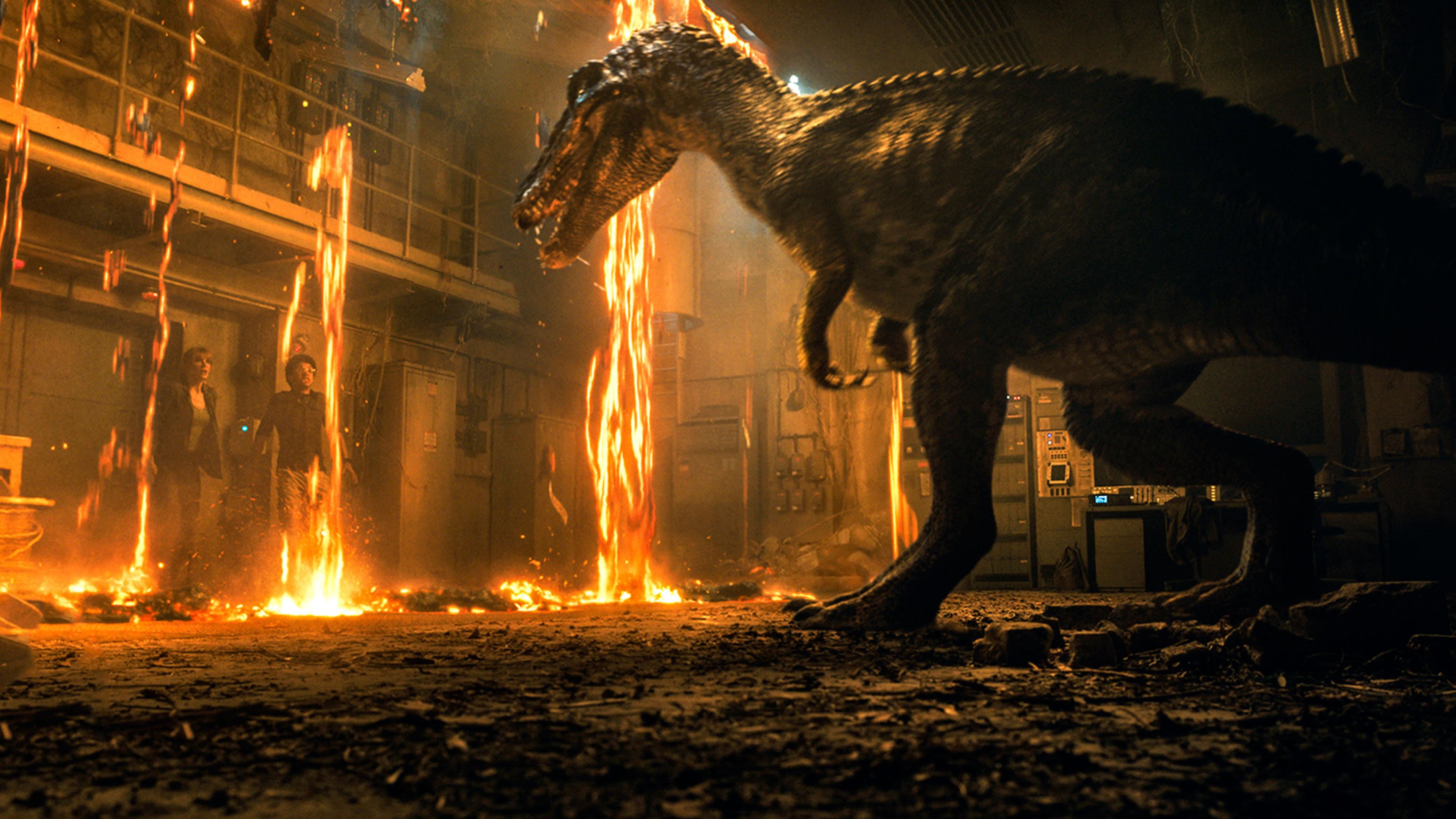 3840x2160 Baryonyx Dinosaur In Jurassic World 2018 4k