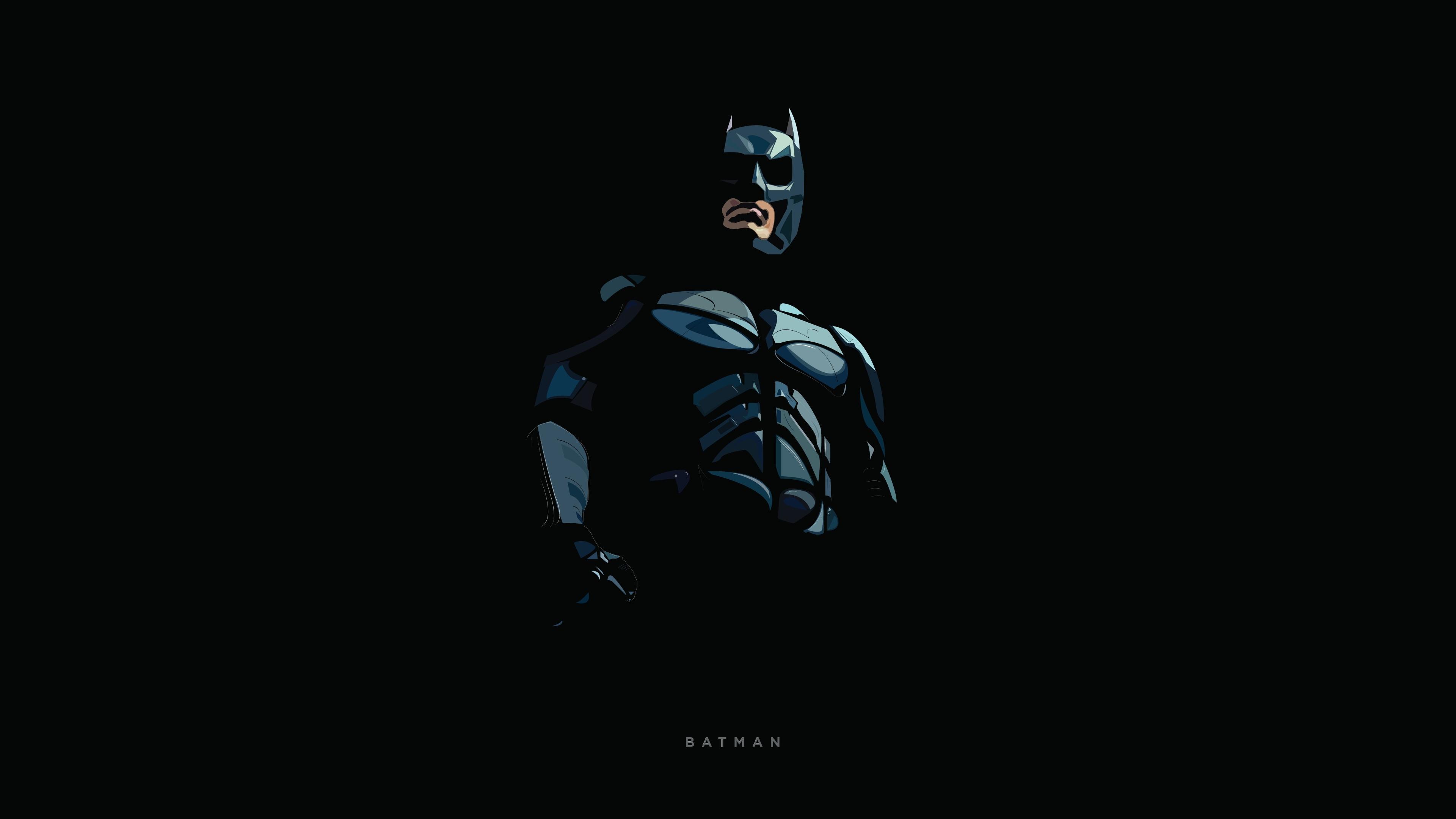 3840x2160 Batman Minimal Illustration 4k Wallpaper Hd