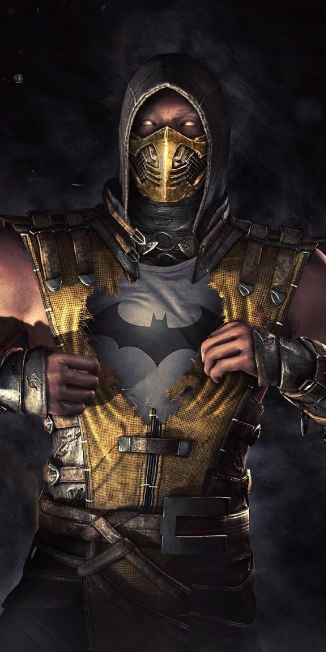 1080x2160 Batman Scorpion Mortal Kombat One Plus 5T,Honor ...