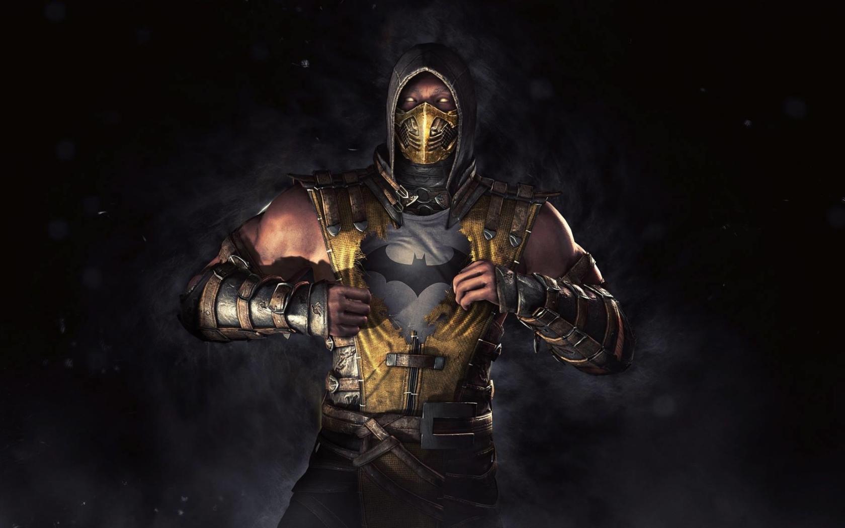 1680x1050 Batman Scorpion Mortal Kombat 1680x1050 Resolution